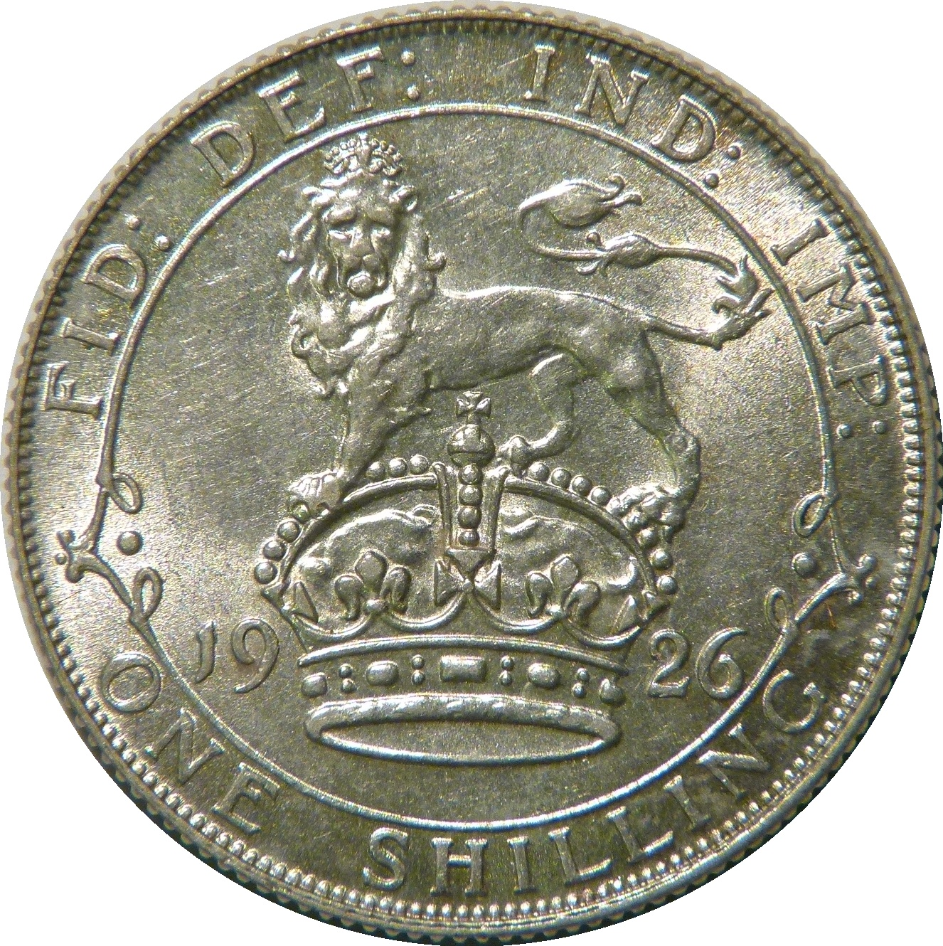 1926 Shilling, Modified Effigy, ESC(old)1437, gEF/aUNC