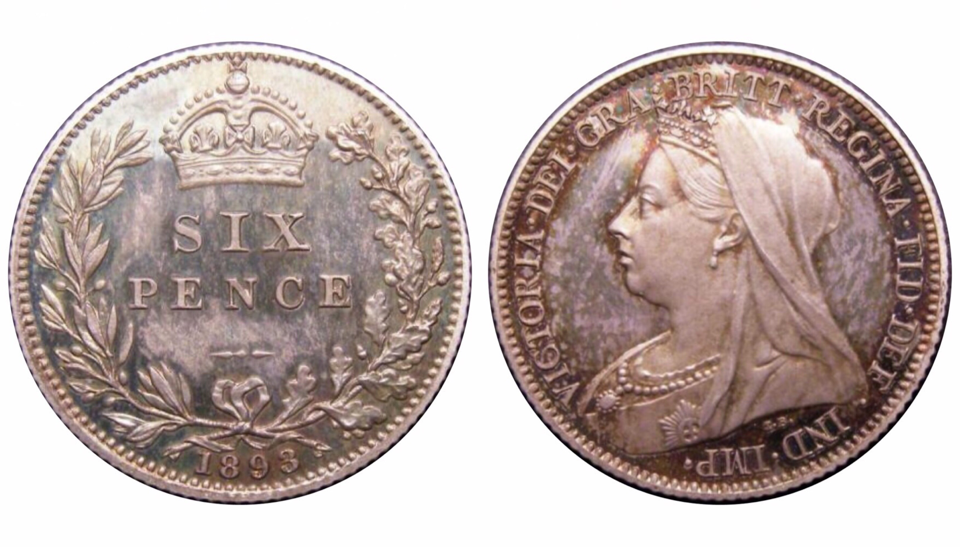 1893 Proof sixpence, CGS 88(MS 65-66), nFDC, ESC 1763, UIN 21084