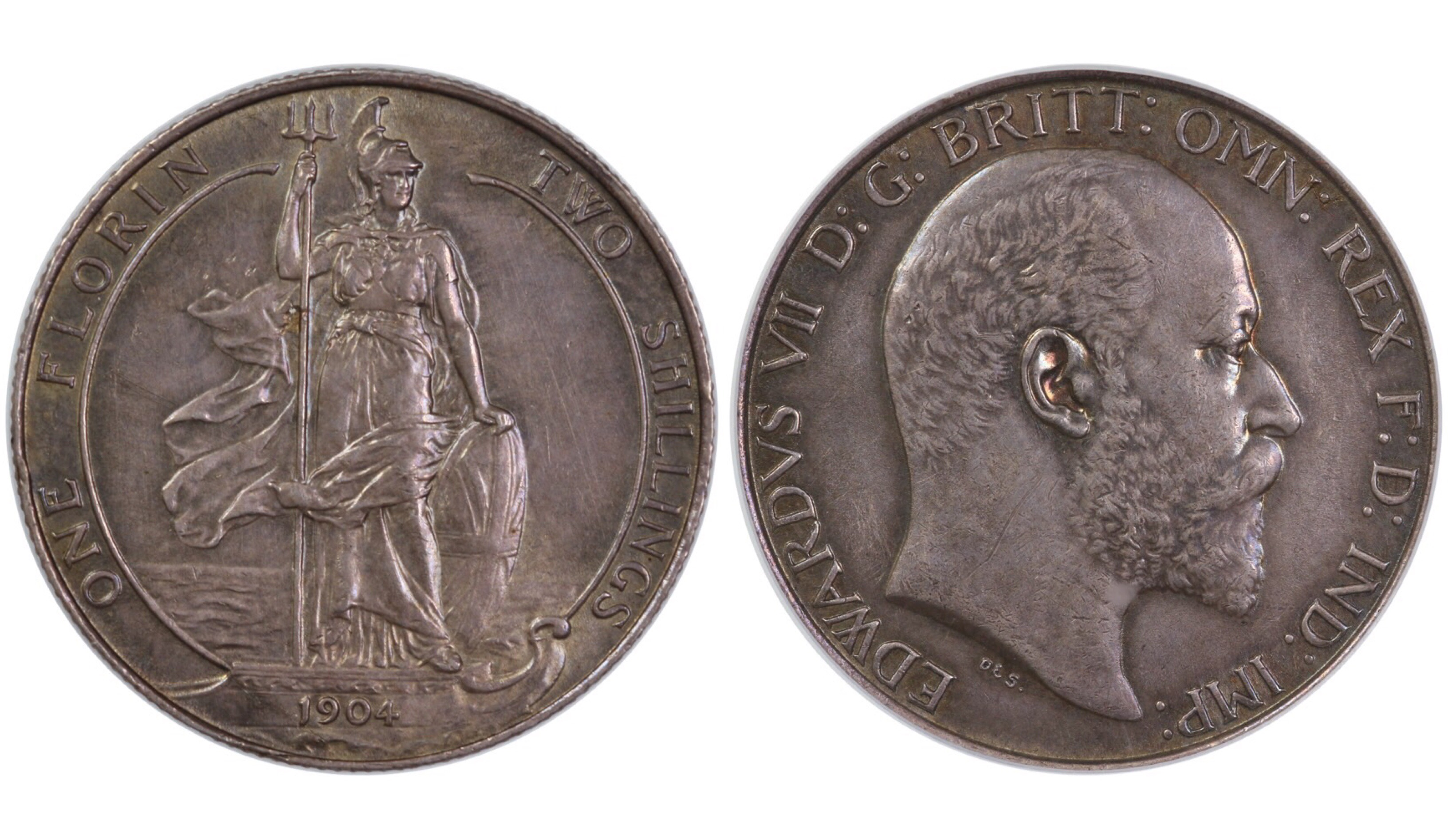 1904 Florin, gEF, CGS 65, Edwards VII, ESC 922, UIN 31985