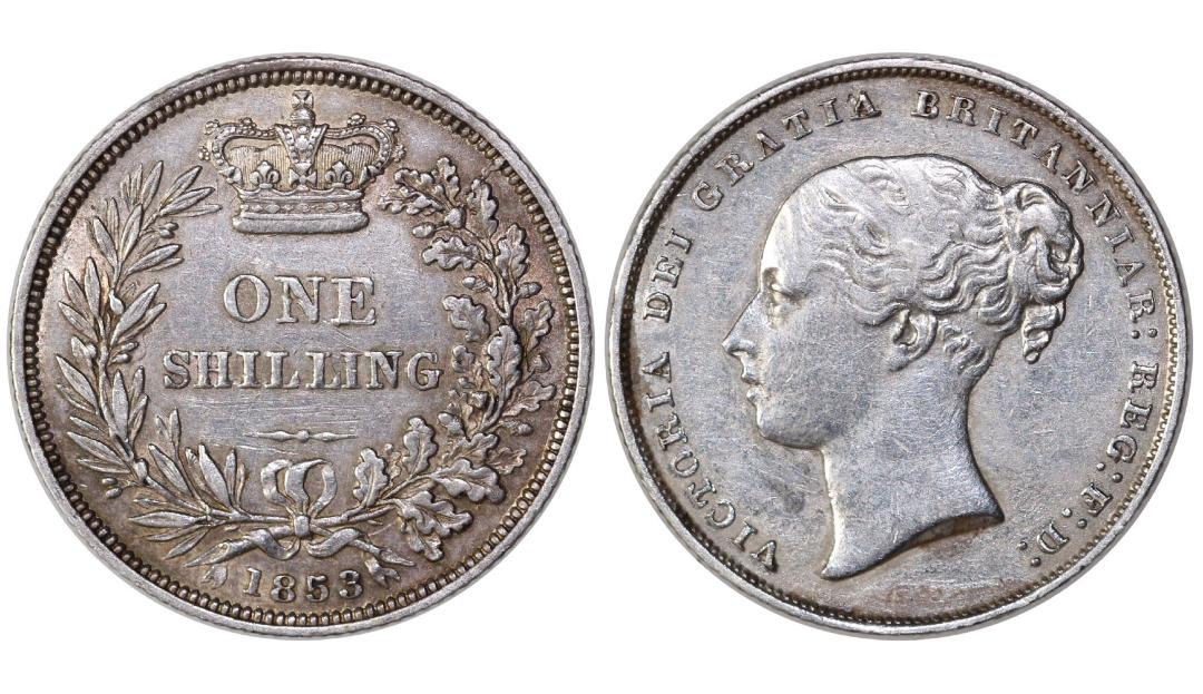 1853 Shilling, VF, Victoria, ESC 1300- Auctioned via FB