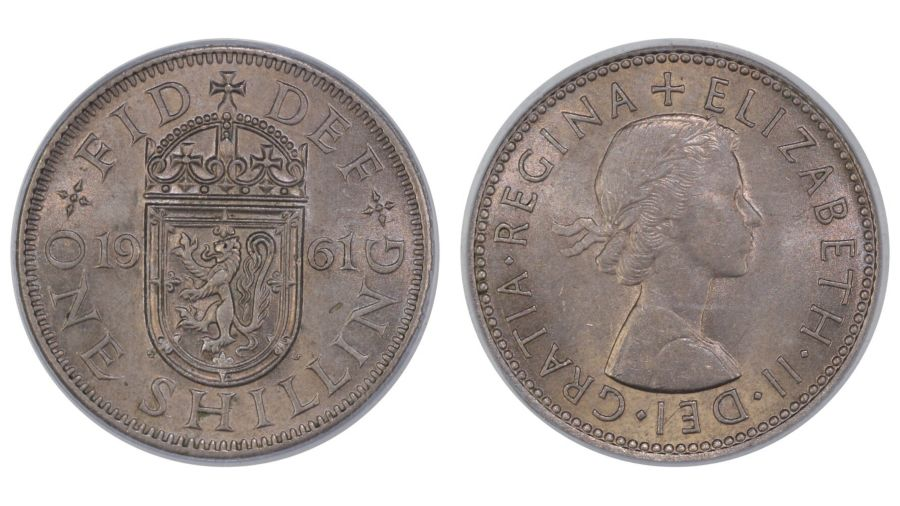 1961 'Scottish' Shilling, CGS 78, ESC 1475DD