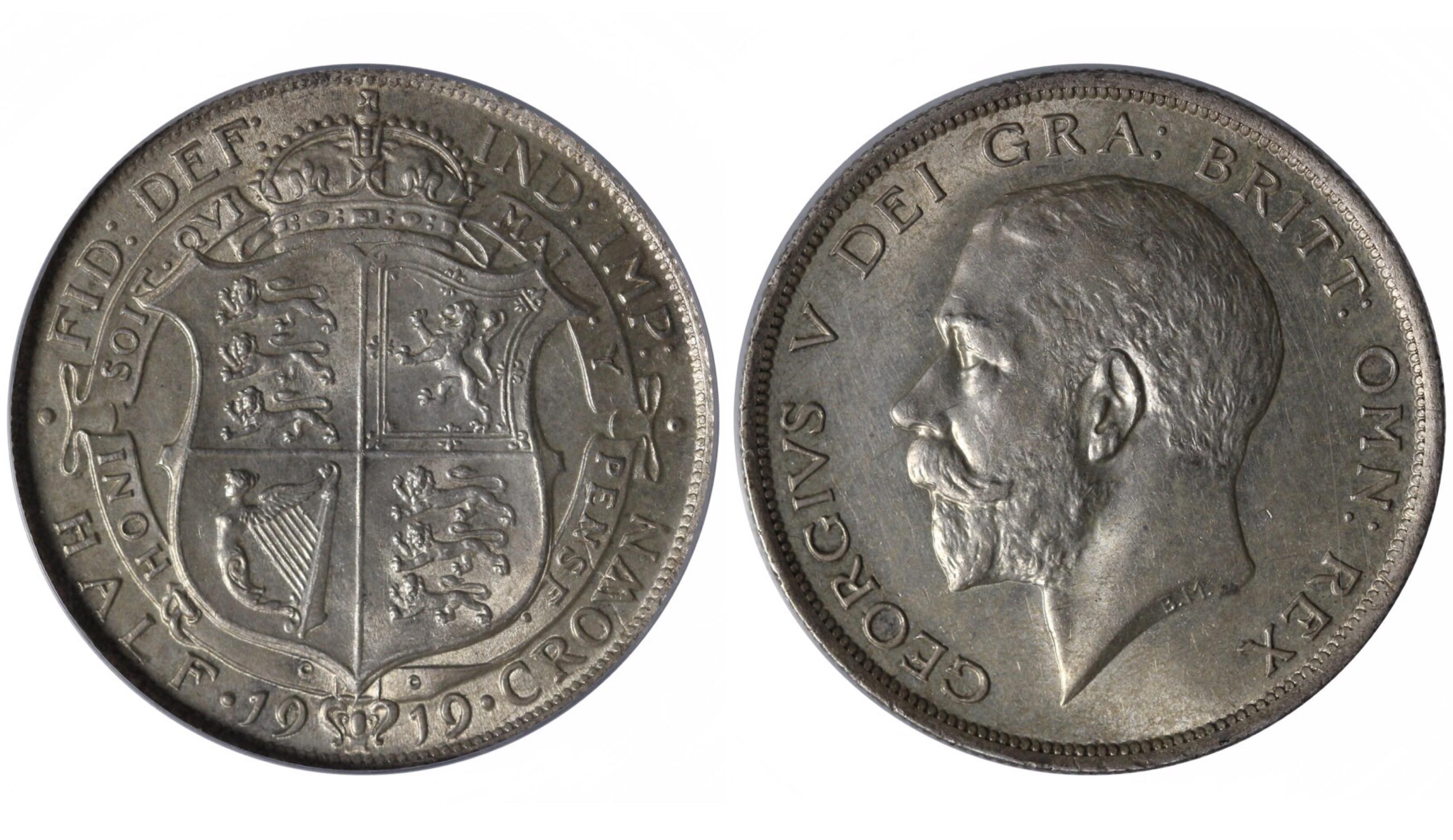 1919 Halfcrown, CGS 78, Davies 1670, UIN 30918