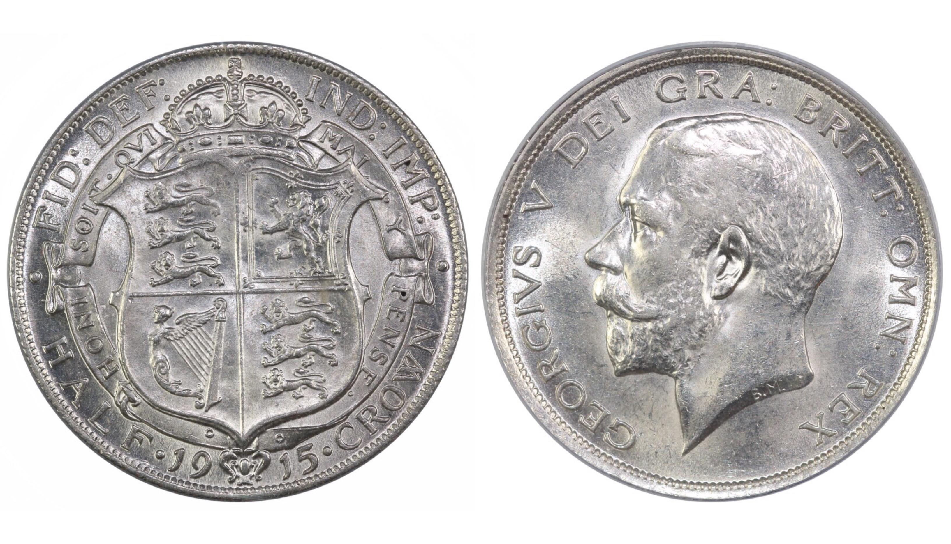 1915 Halfcrown, CGS 78, UNC, George V, ESC 762, UIN 30909