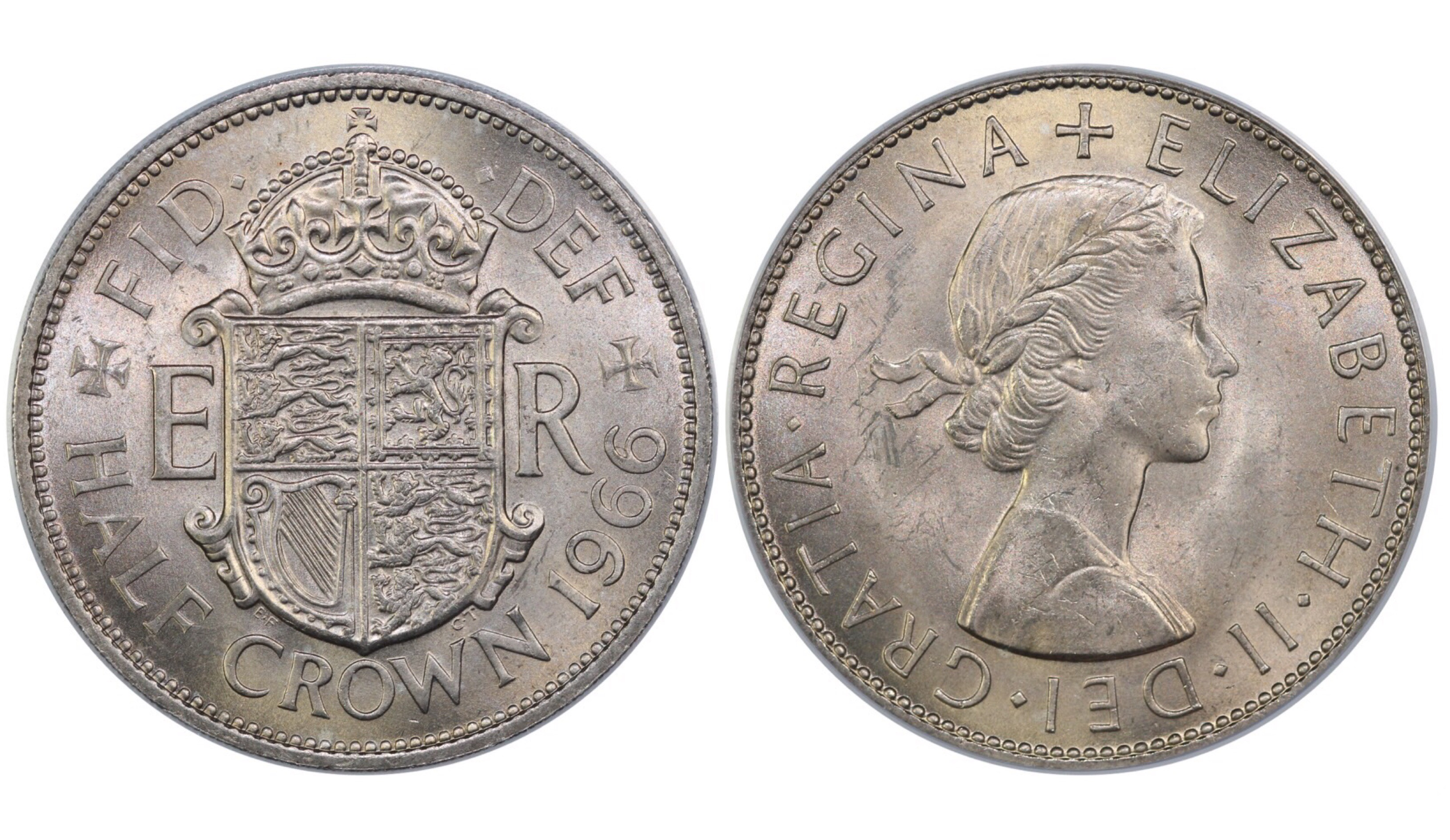 1966 Halfcrown, CGS 78 Elizabeth II, ESC 798W, UIN 15485