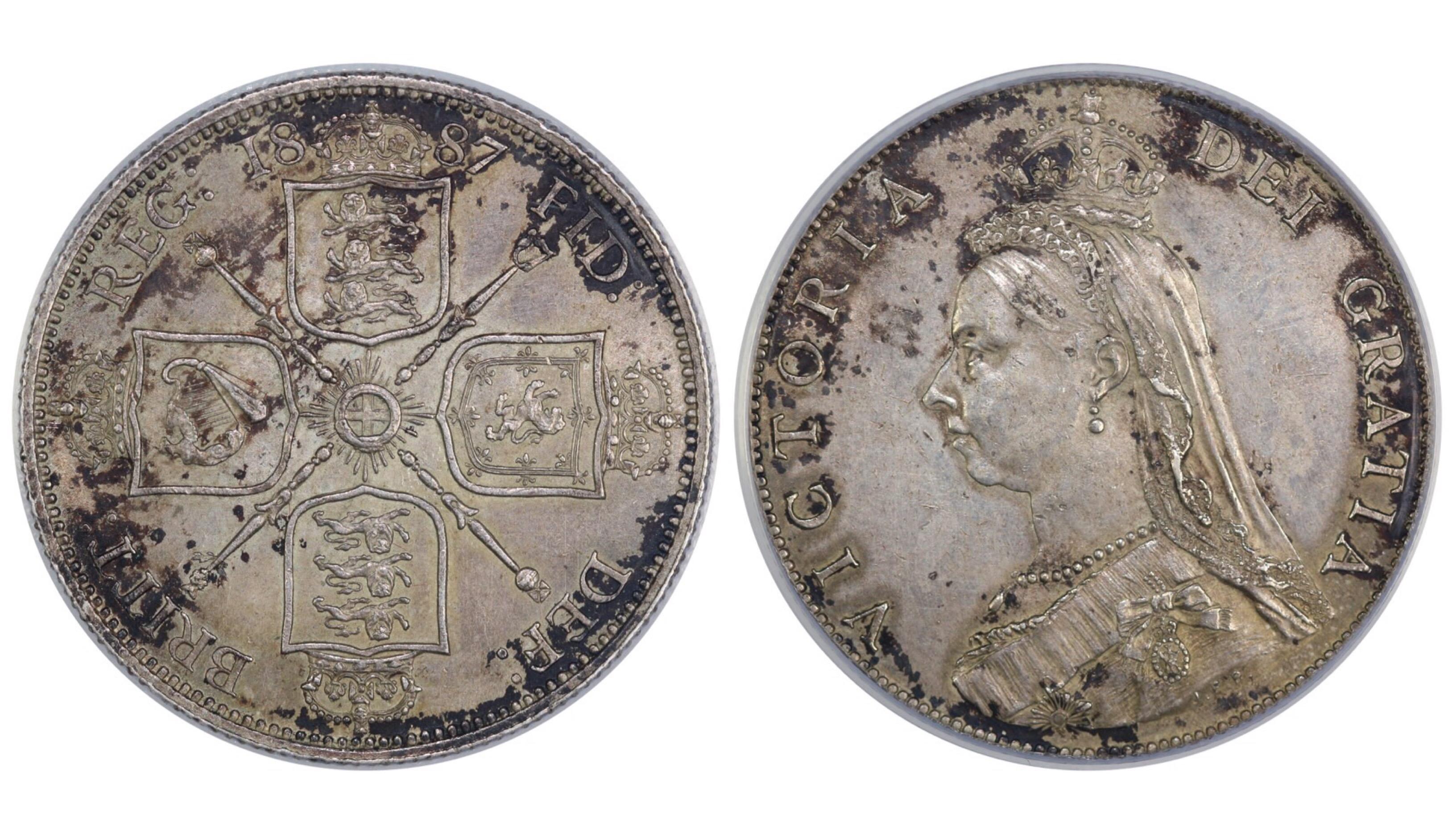 1887 Florin, CGS 65, Victoria, Davies 810, UIN 13753