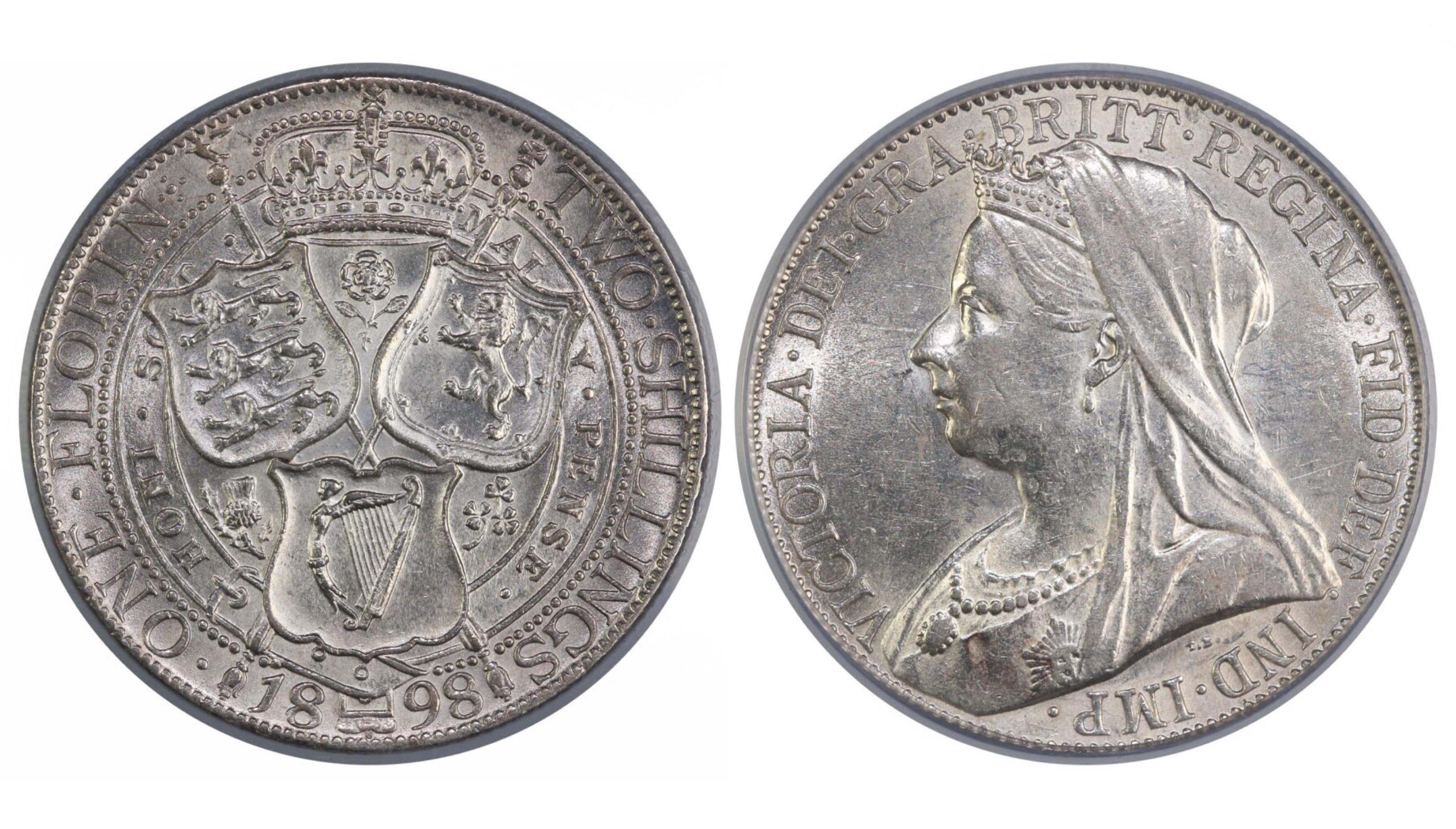1898 Florin, CGS 65, Victoria, ESC 882, UIN 13768