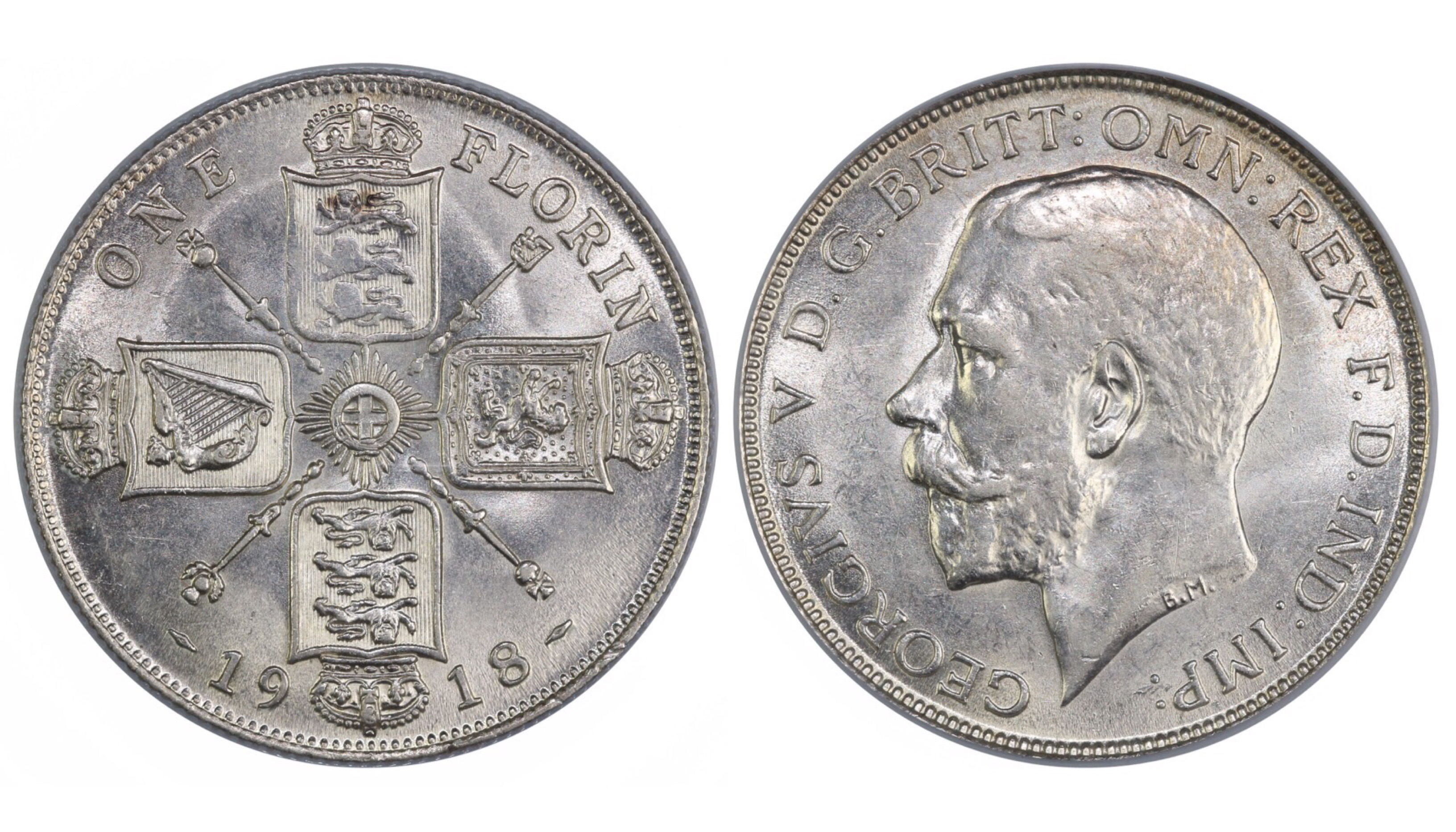 1918 Florin, CGS 70, George V, Davies 1741, UIN 13794