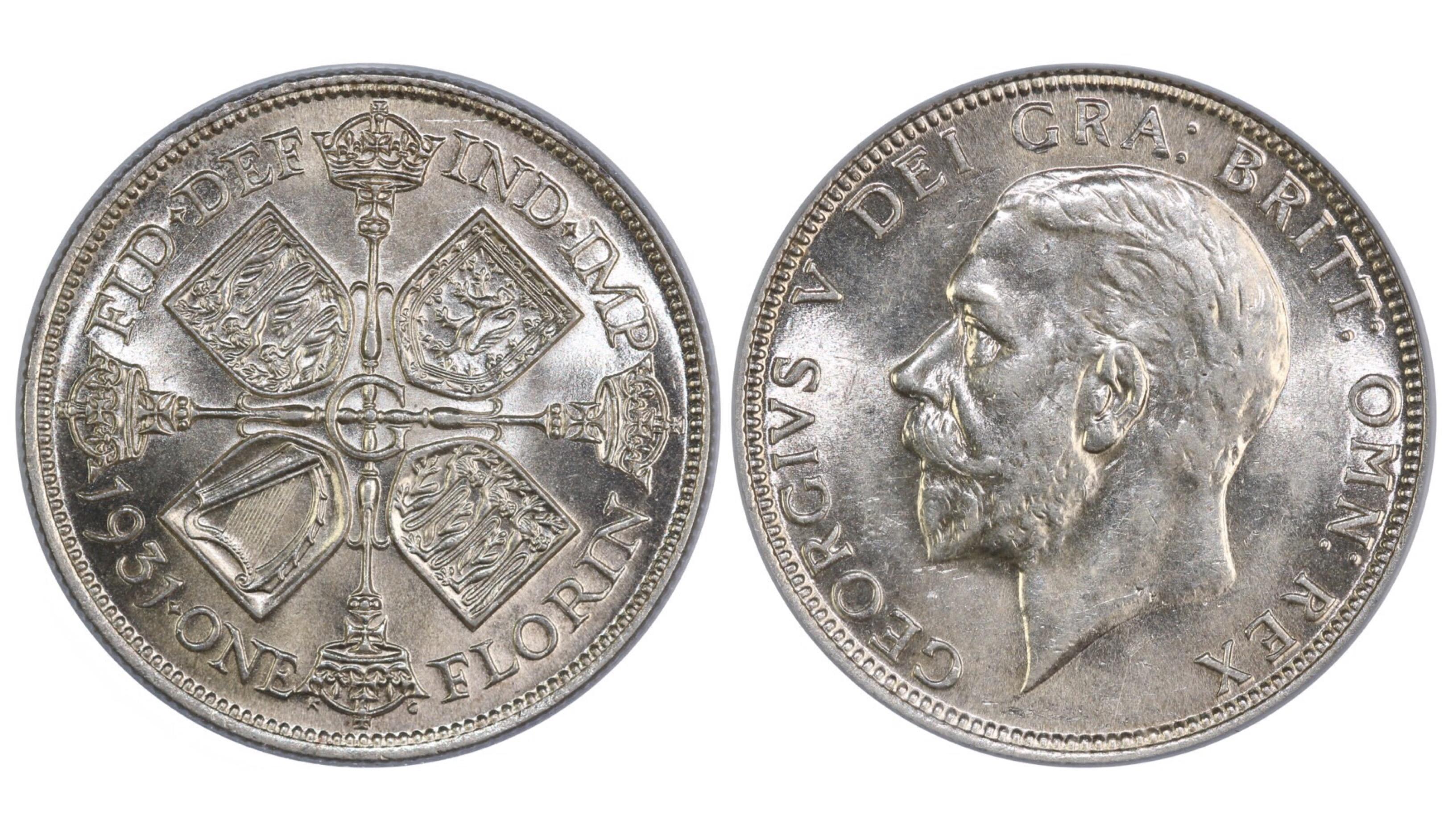 1931 Florin, CGS 78, UNC, George V, ESC 951, UIN