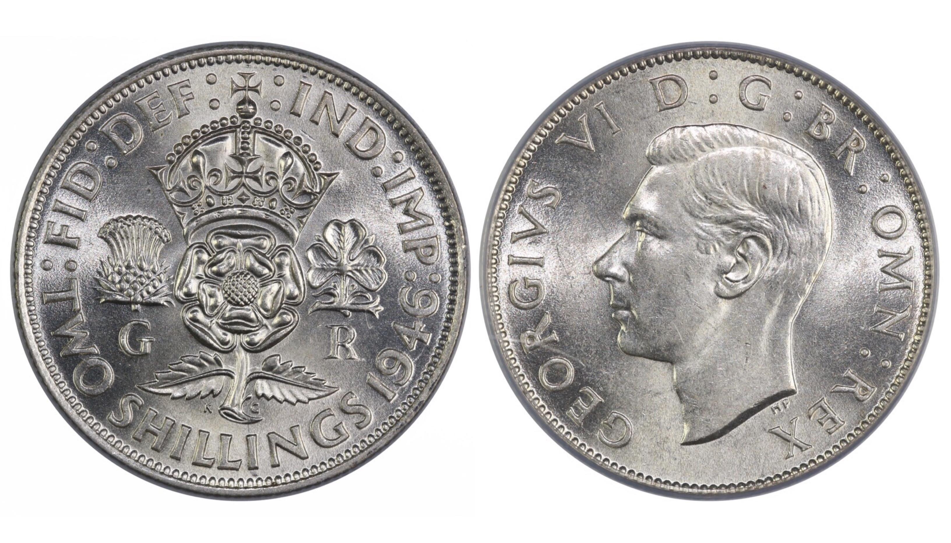 1946 Florin, CGS 78, UNC, George VI, ESC 966, UIN 12489
