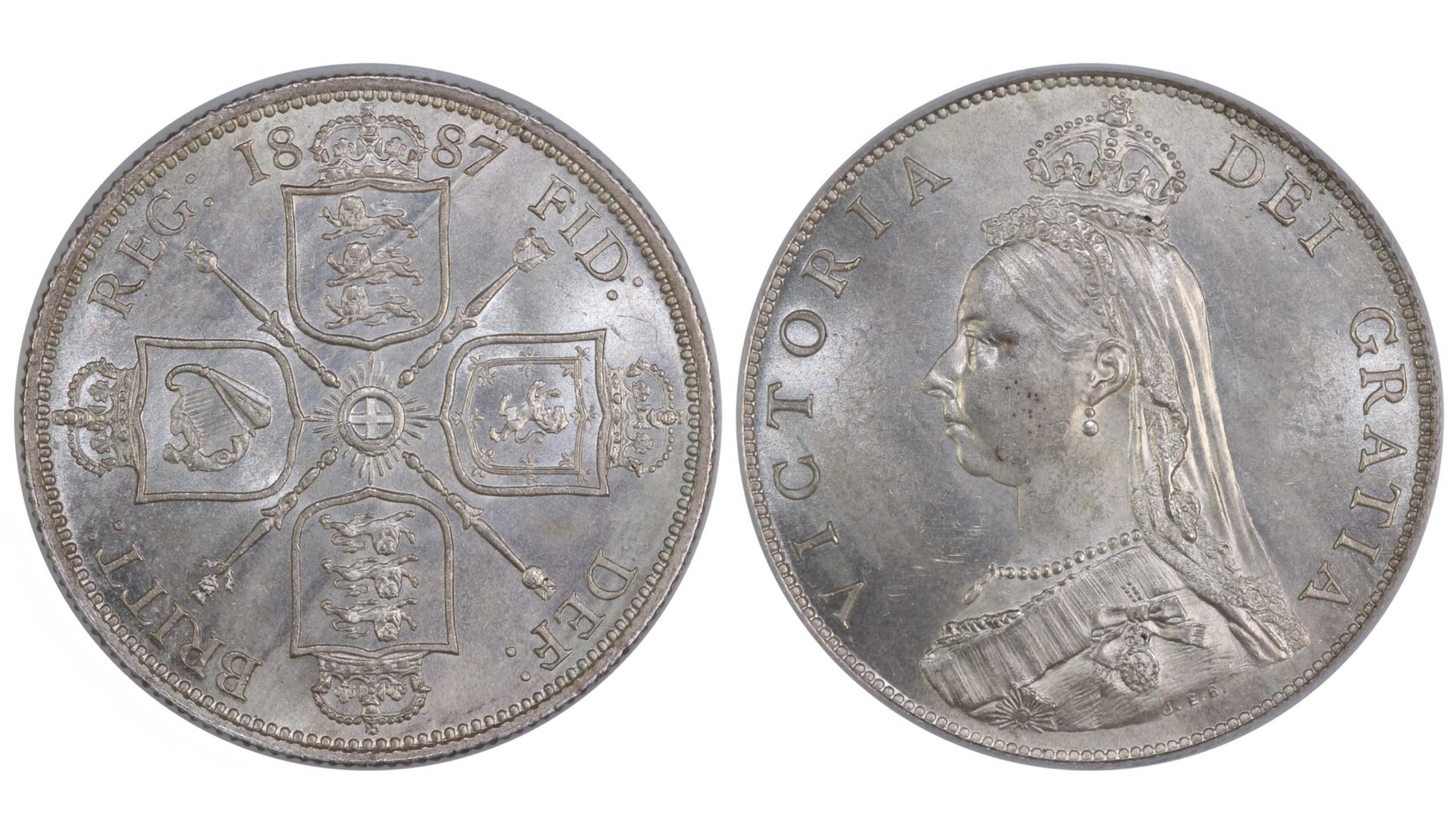 1887 Florin, CGS 78, UNC, Davies 810, UIN 38832
