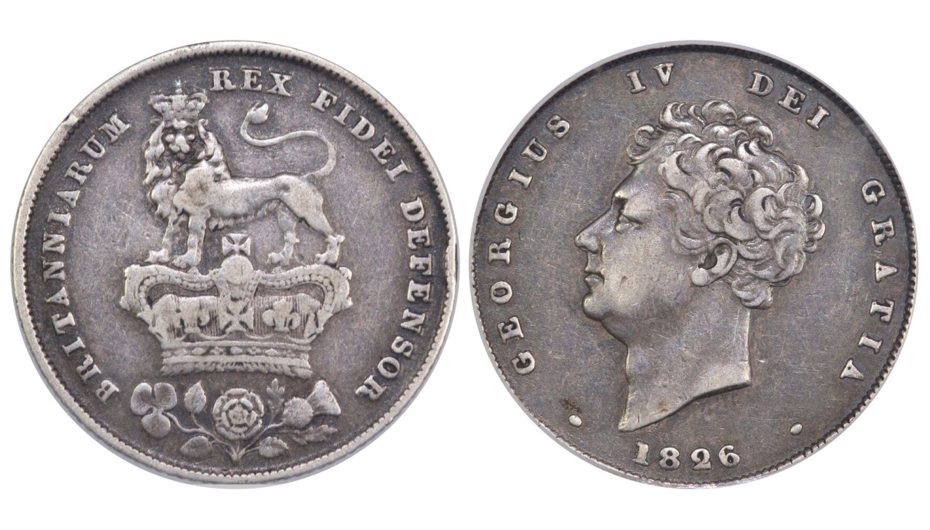 1826 Shilling, CGS 25, George IV, ESC 1257, UIN 26708