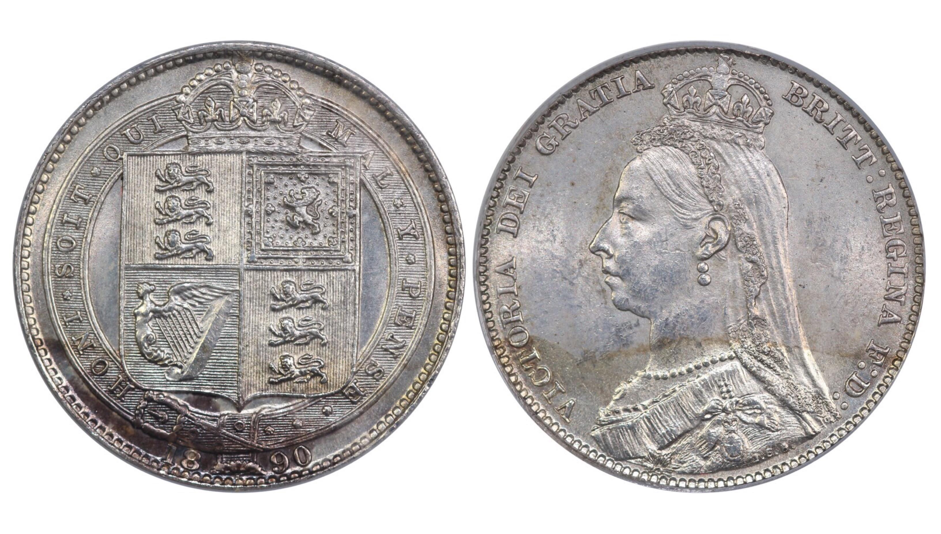 1890 Shilling, CGS 75, Victoria, ESC 1357, UIN 26718