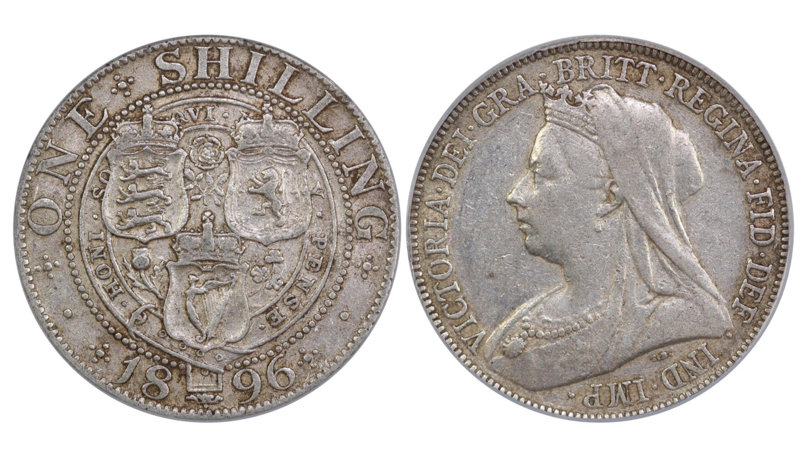 1896 Shilling, CGS 40, Victoria, ESC 1365, UIN 29035