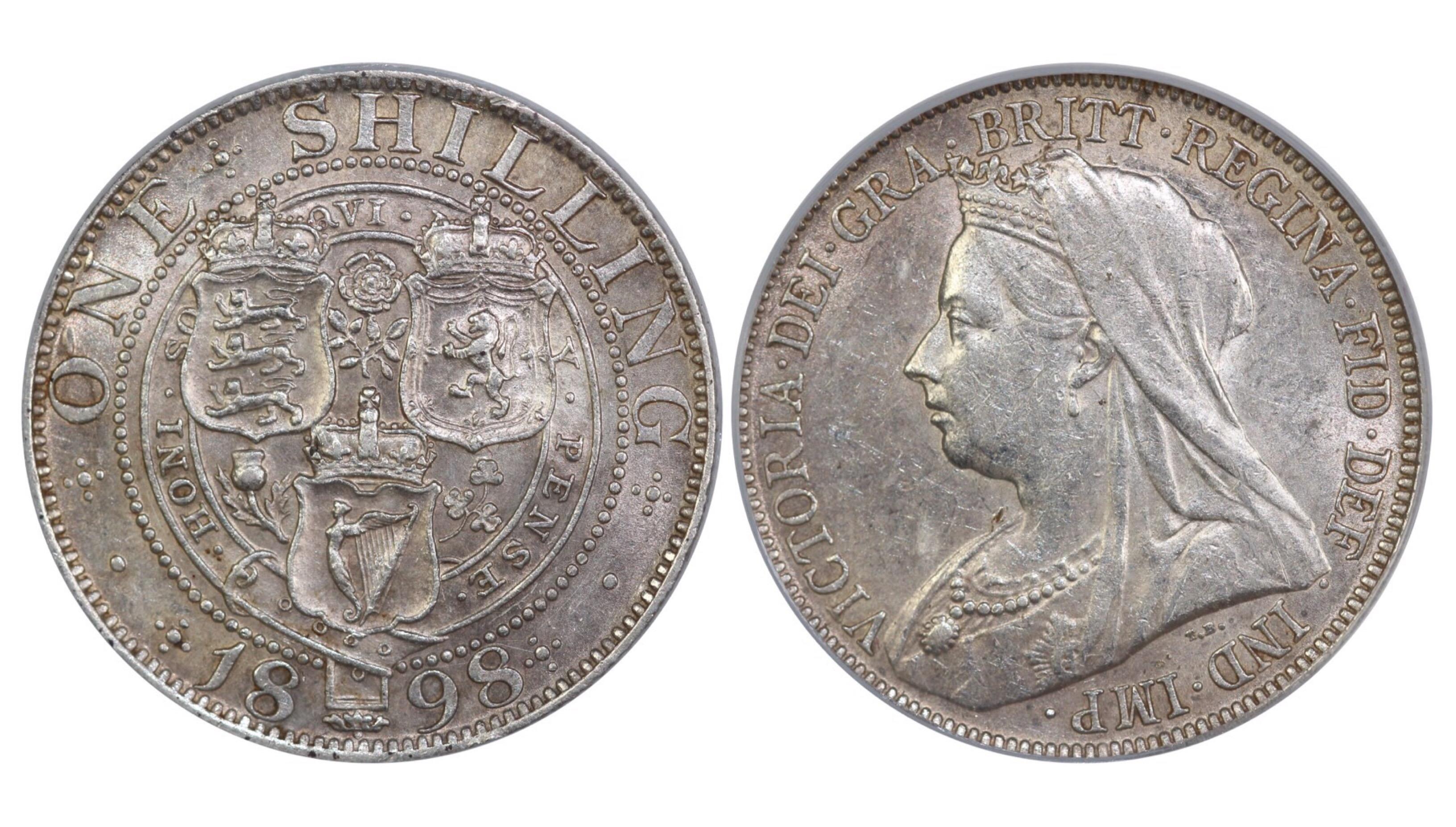 1898 Shilling, CGS 60, Victoria, ESC 1367, UIN 29038