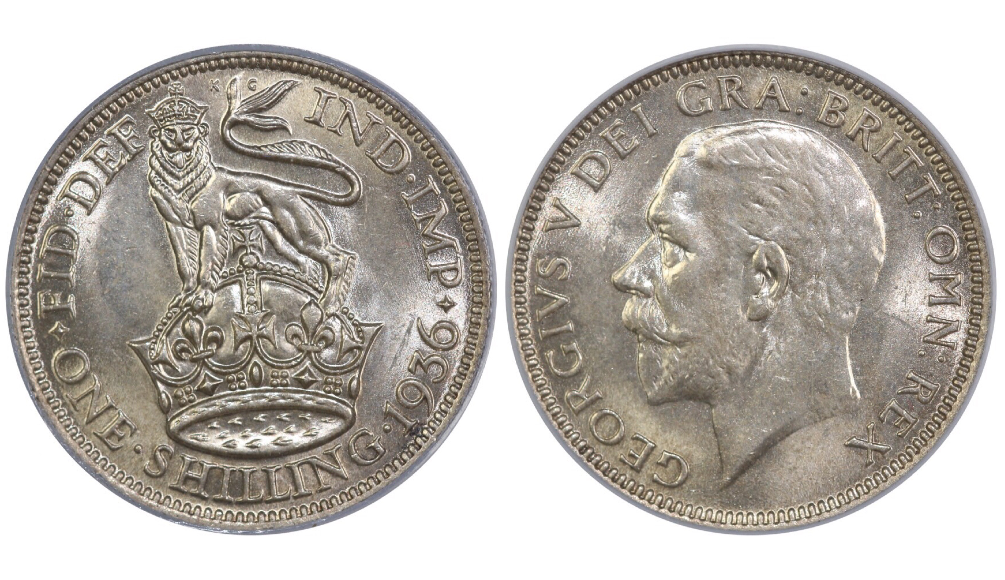 1936 Shilling, CGS 78, George V, ESC 1449, UIN 25659