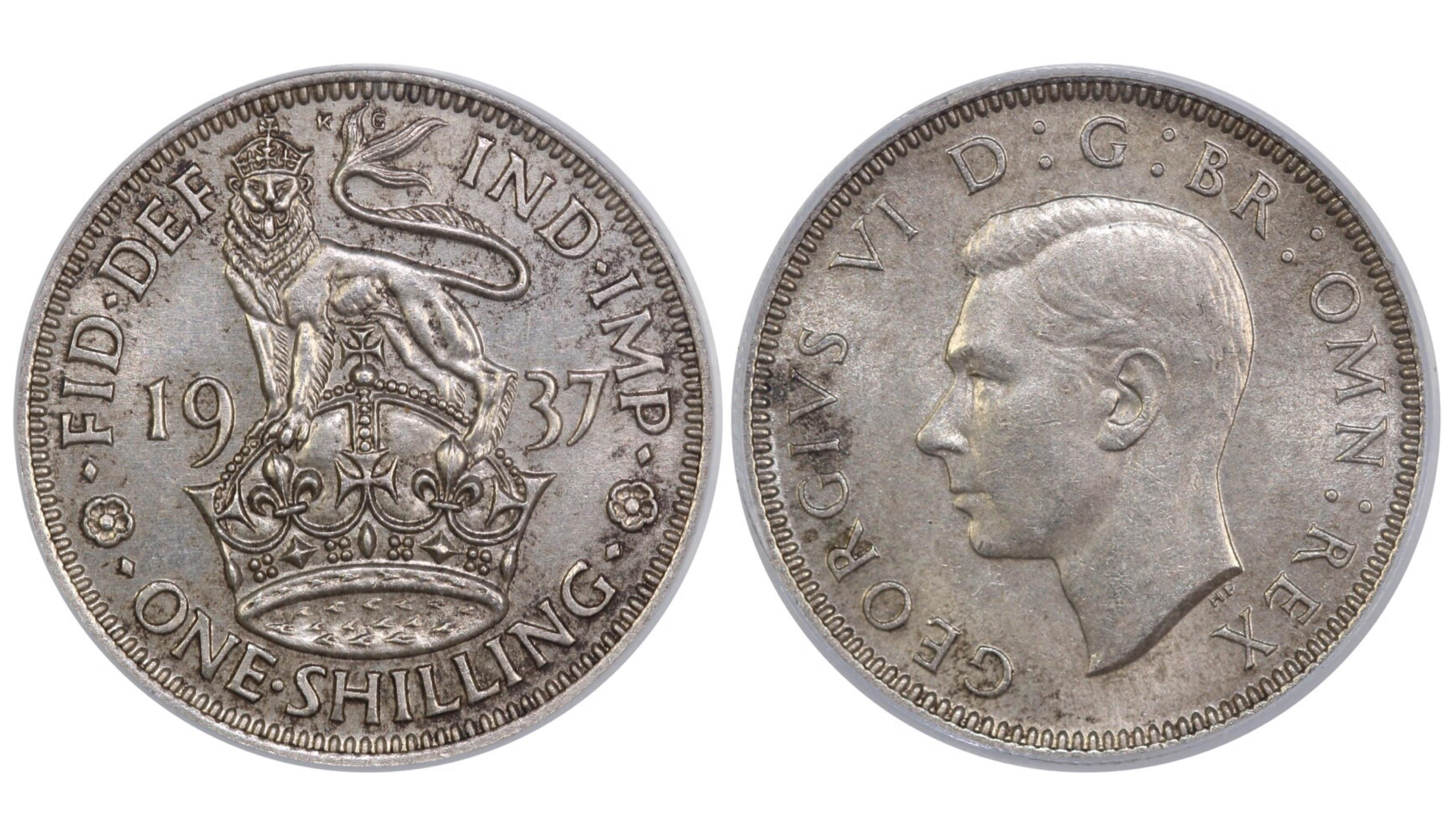 1937 'English' Shilling, CGS 65, George VI, ESC 1450, UIN 20847