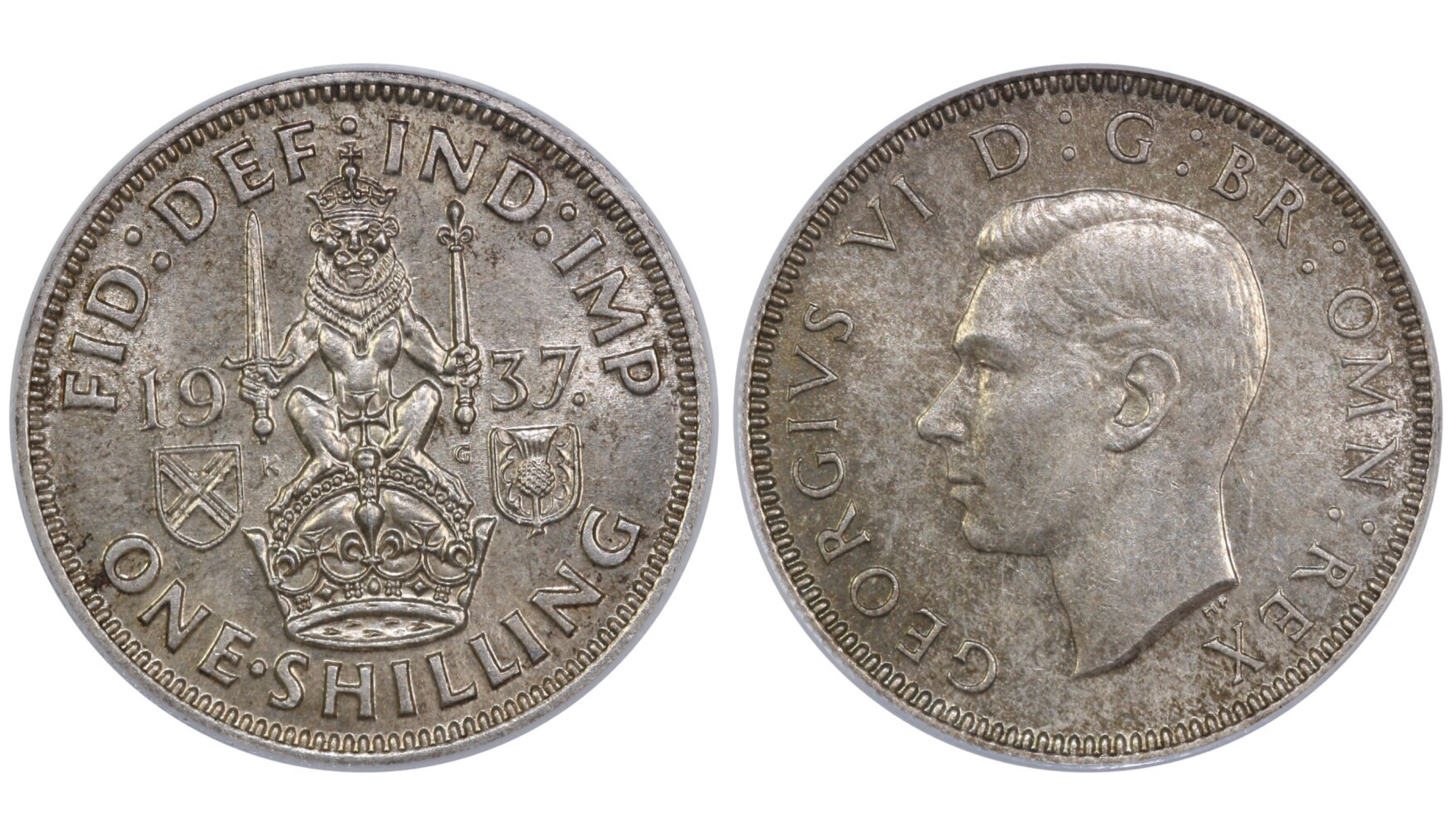 1937 'Scottish' Shilling, CGS 65, George VI, ESC 1452, UIN 20858