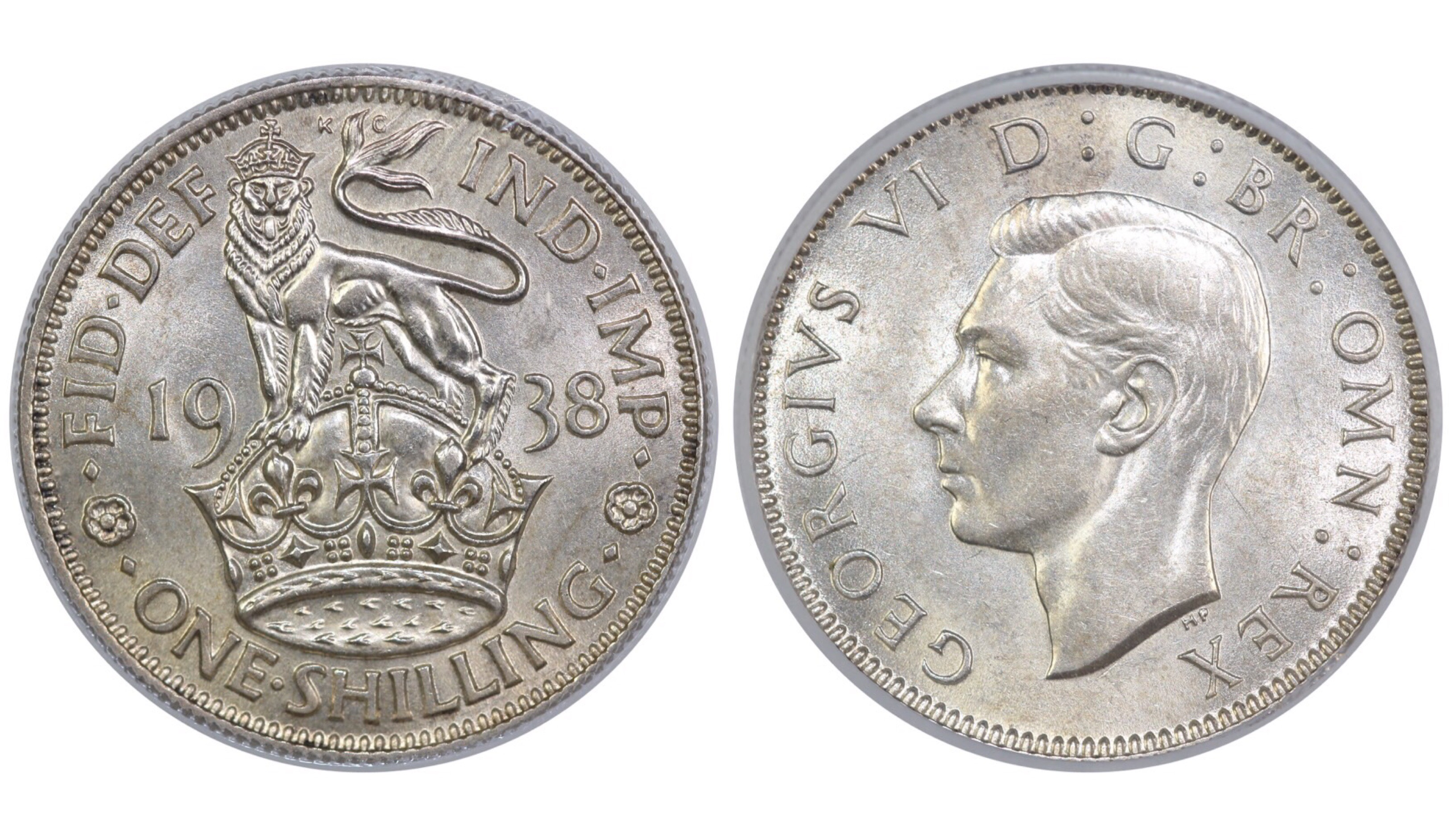 1938 'English' Shilling, CGS 78, George VI, ESC 1454, UIN 29057