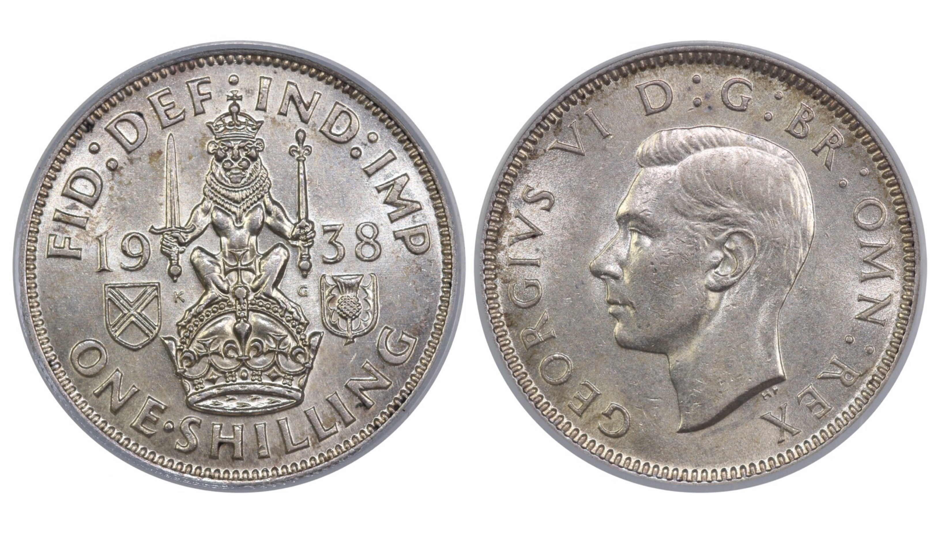 1938 'Scottish' Shilling, CGS 65, George VI, ESC 1455, UIN 21675