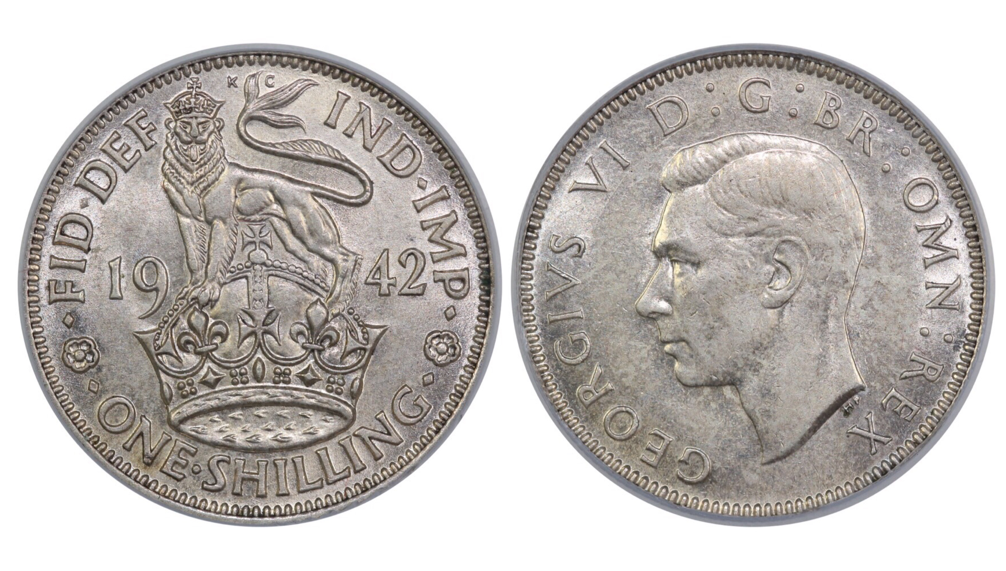 1942 'English' Shilling, CGS 70, ESC 1462, UIN 21661