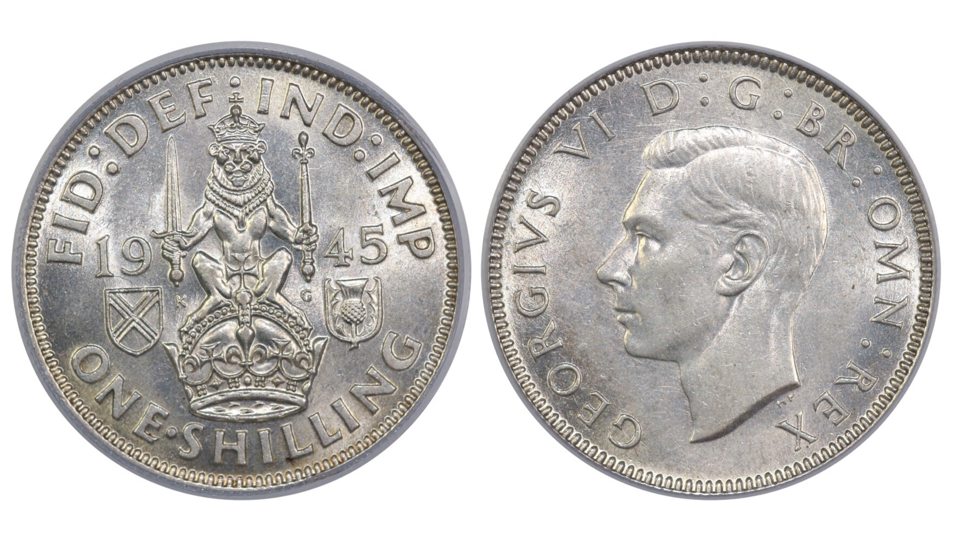 1945 'Scottish' Shilling, CGS 75, ESC 1469, UIN 25674