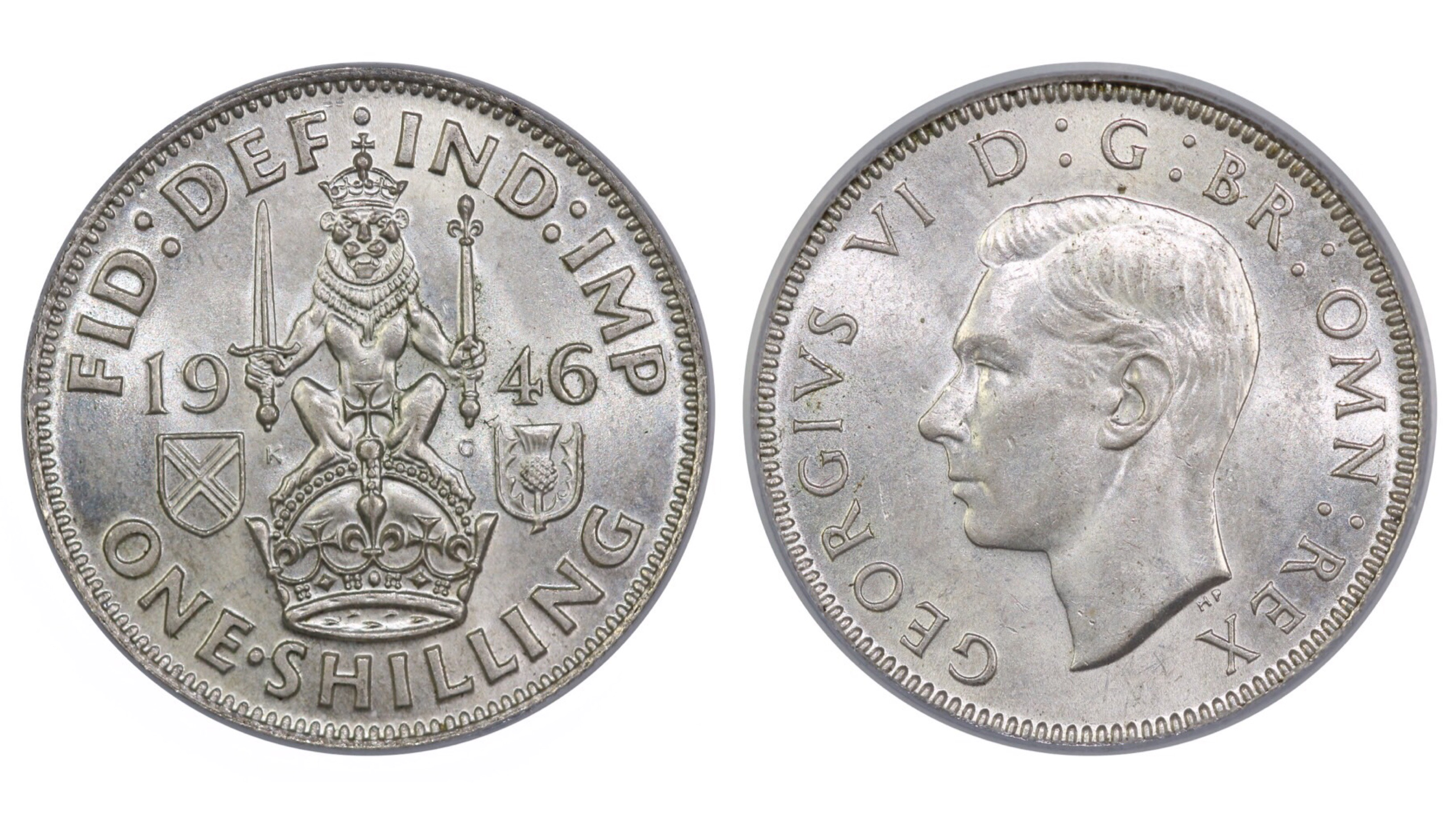 1946 'Scottish' Shilling, CGS 75, George VI, ESC 1471, UIN 25676