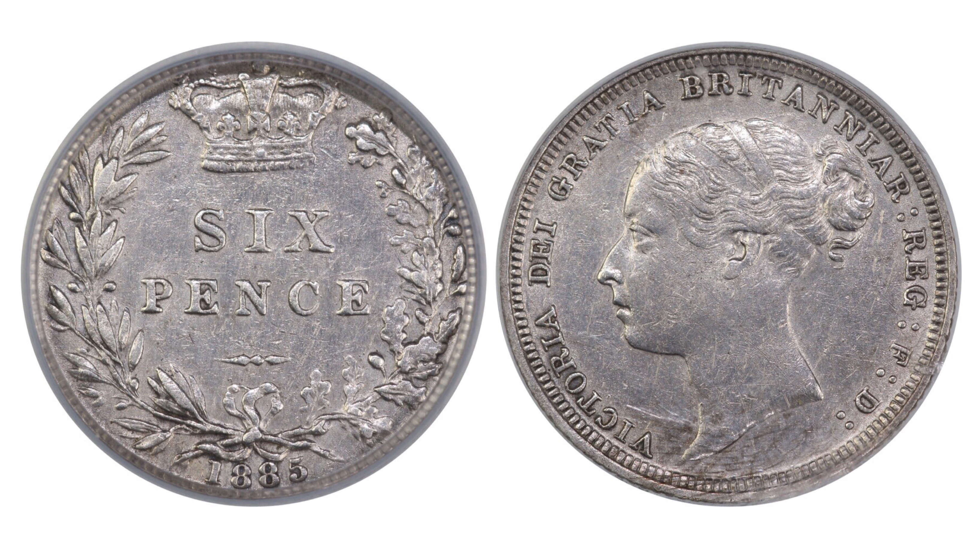 1885 Sixpence, CGS 60, Victoria, ESC 1746, UIN 22805