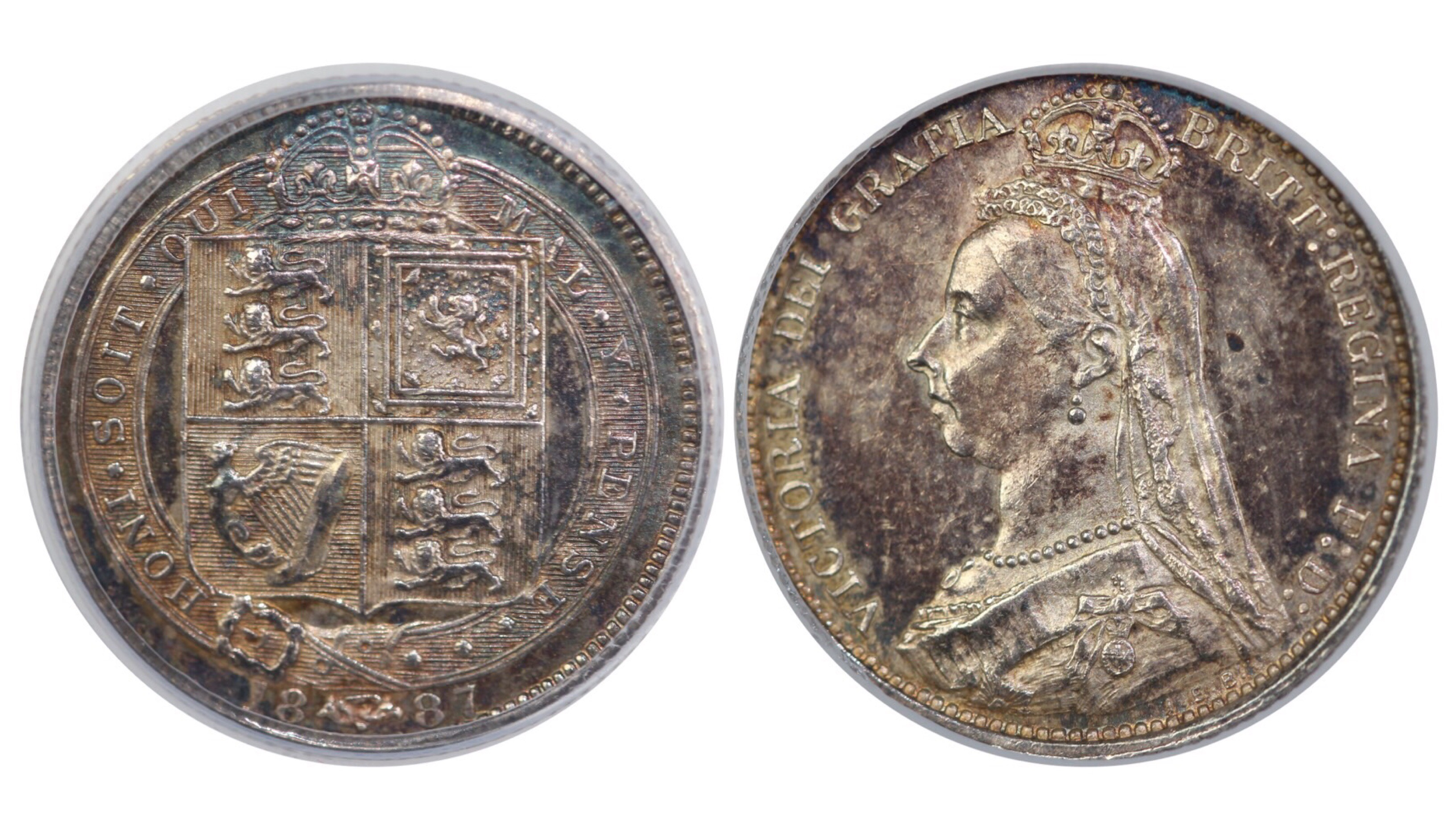 1887 Sixpence, CGS 65, Withdrawn type, Victoria, ESC 1752, UIN 22811