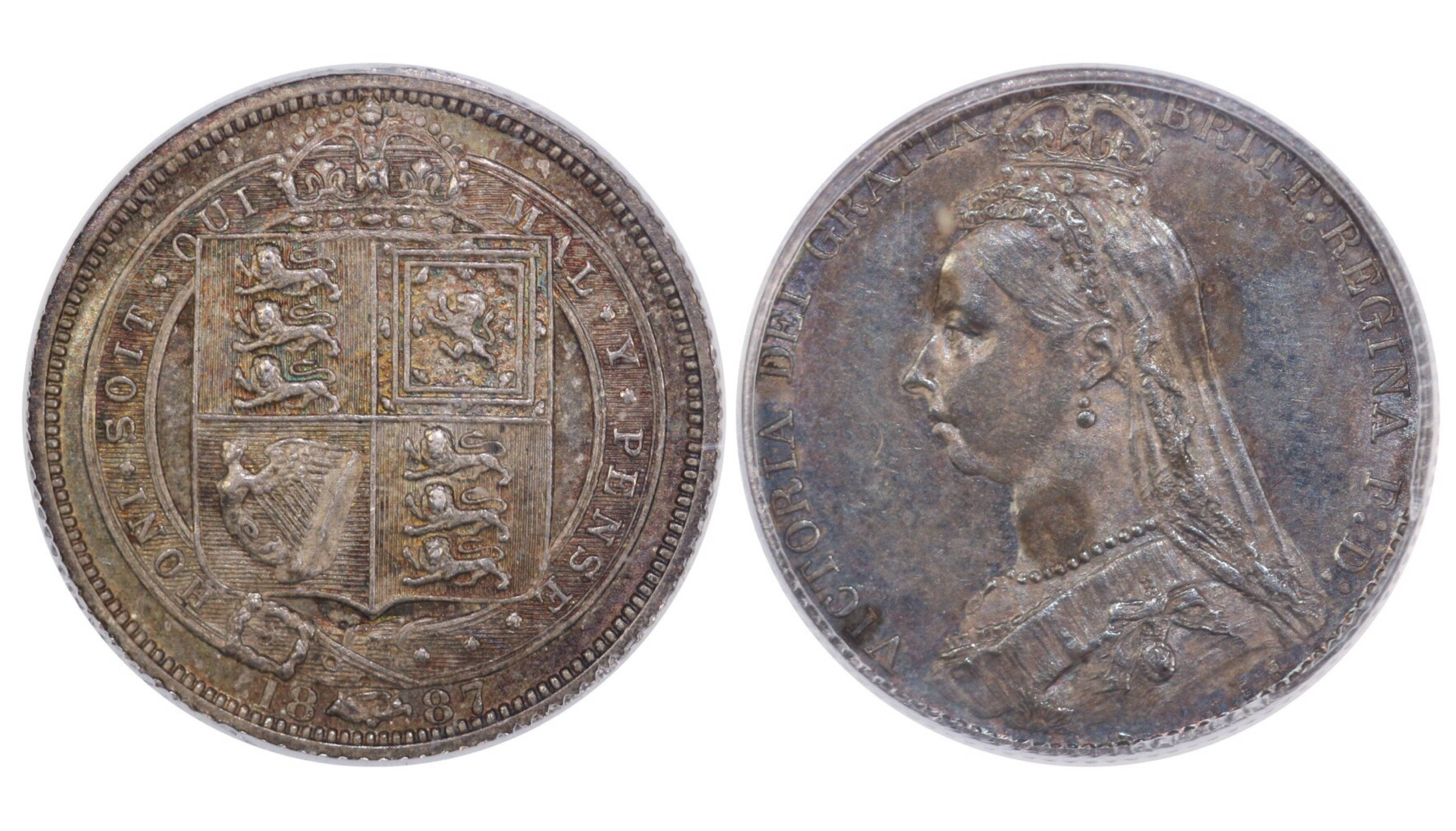 1887 Sixpence, CGS 75, Withdrawn type, Victoria, ESC 1752, UIN 22810
