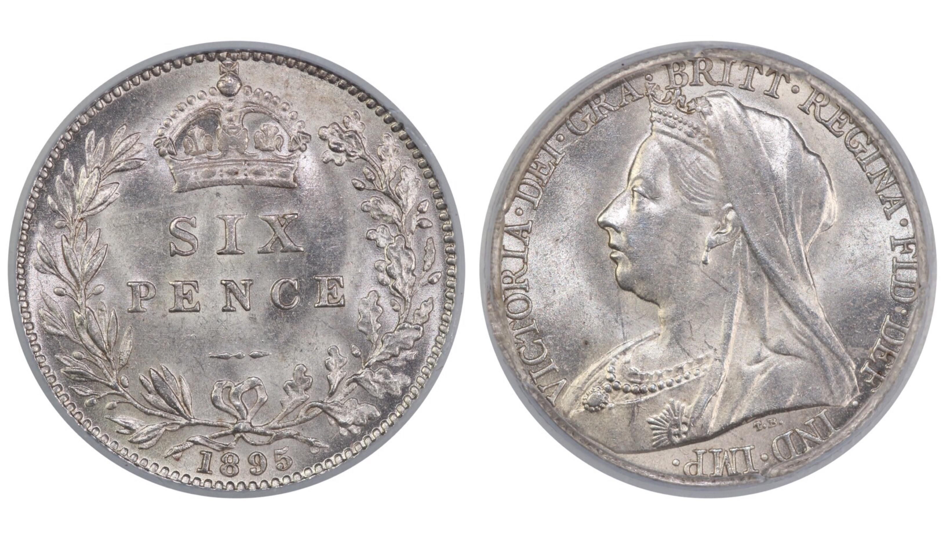 1895 Sixpence, CGS 78, ESC 1765, UIN 22825