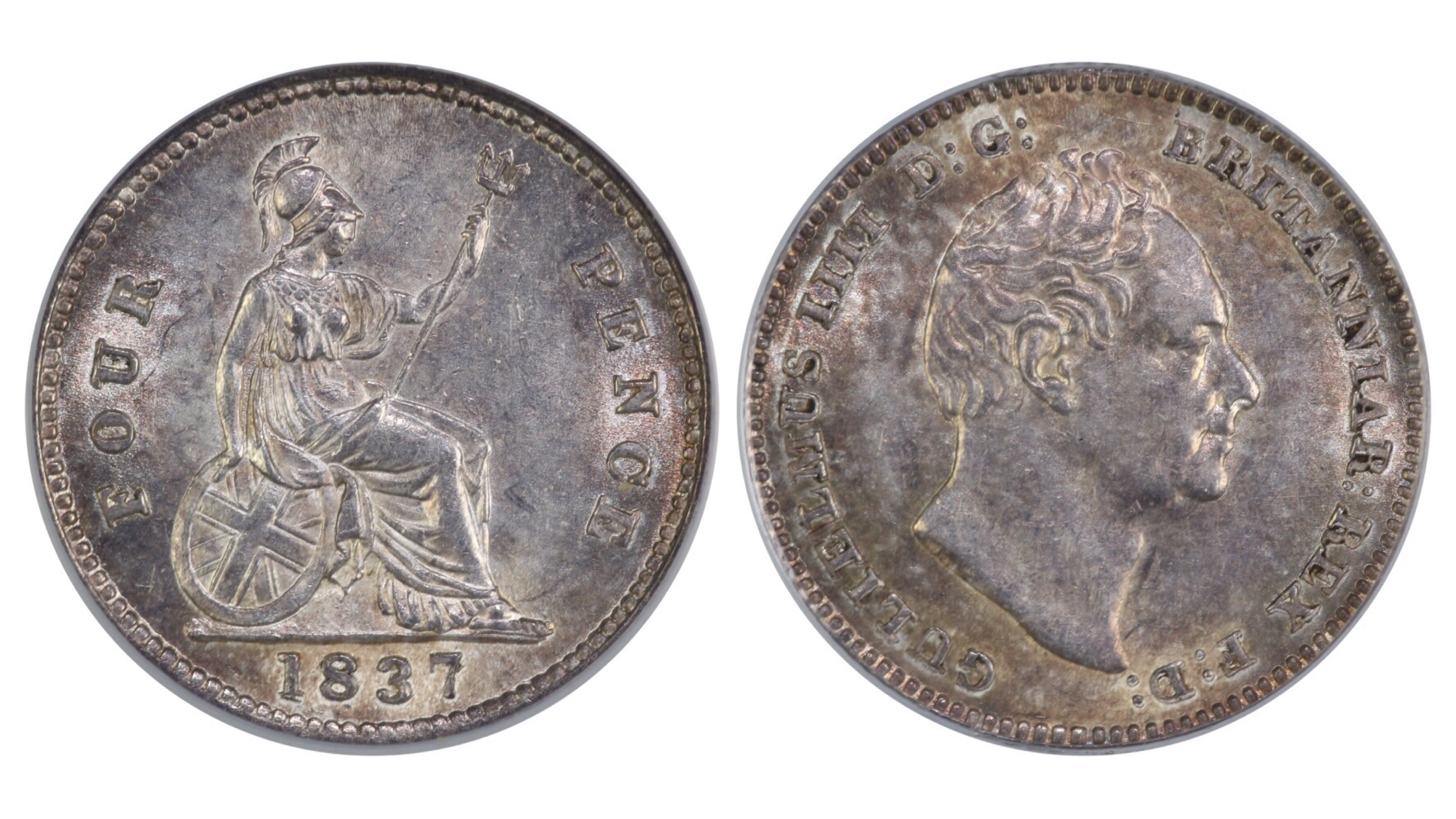 1837 Groat, CGS 75, William IV, Dies 1A(small head), Davies 383, AW2, UIN 19496