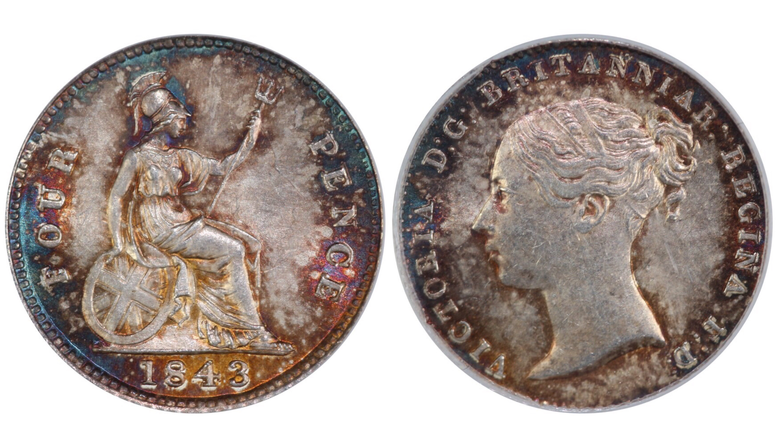 1843 Groat, CGS 78, Victoria, ESC 1938,
