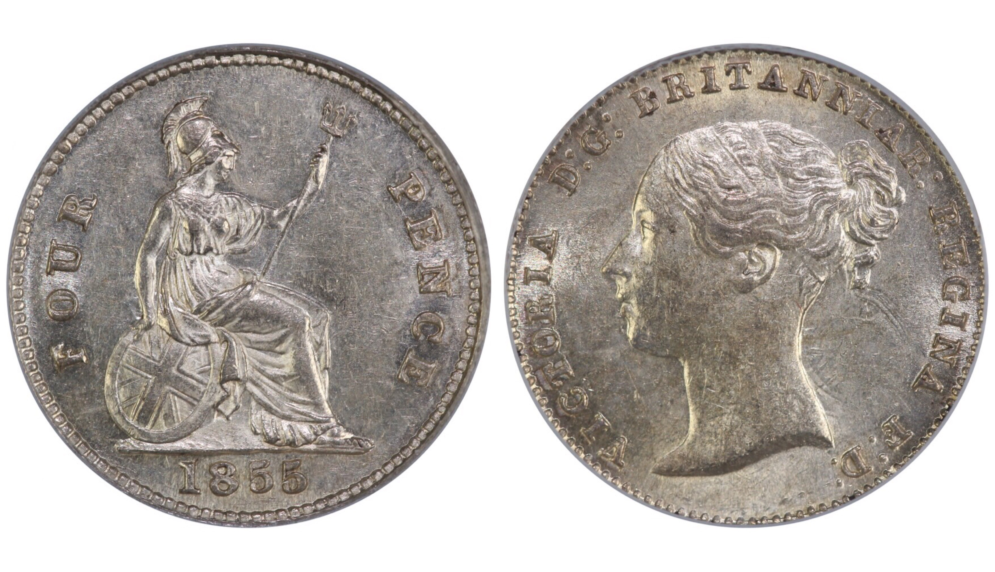 1855 Groat, CGS 65, Victoria, ESC 1953, UIN 16419- Sold at FB auction