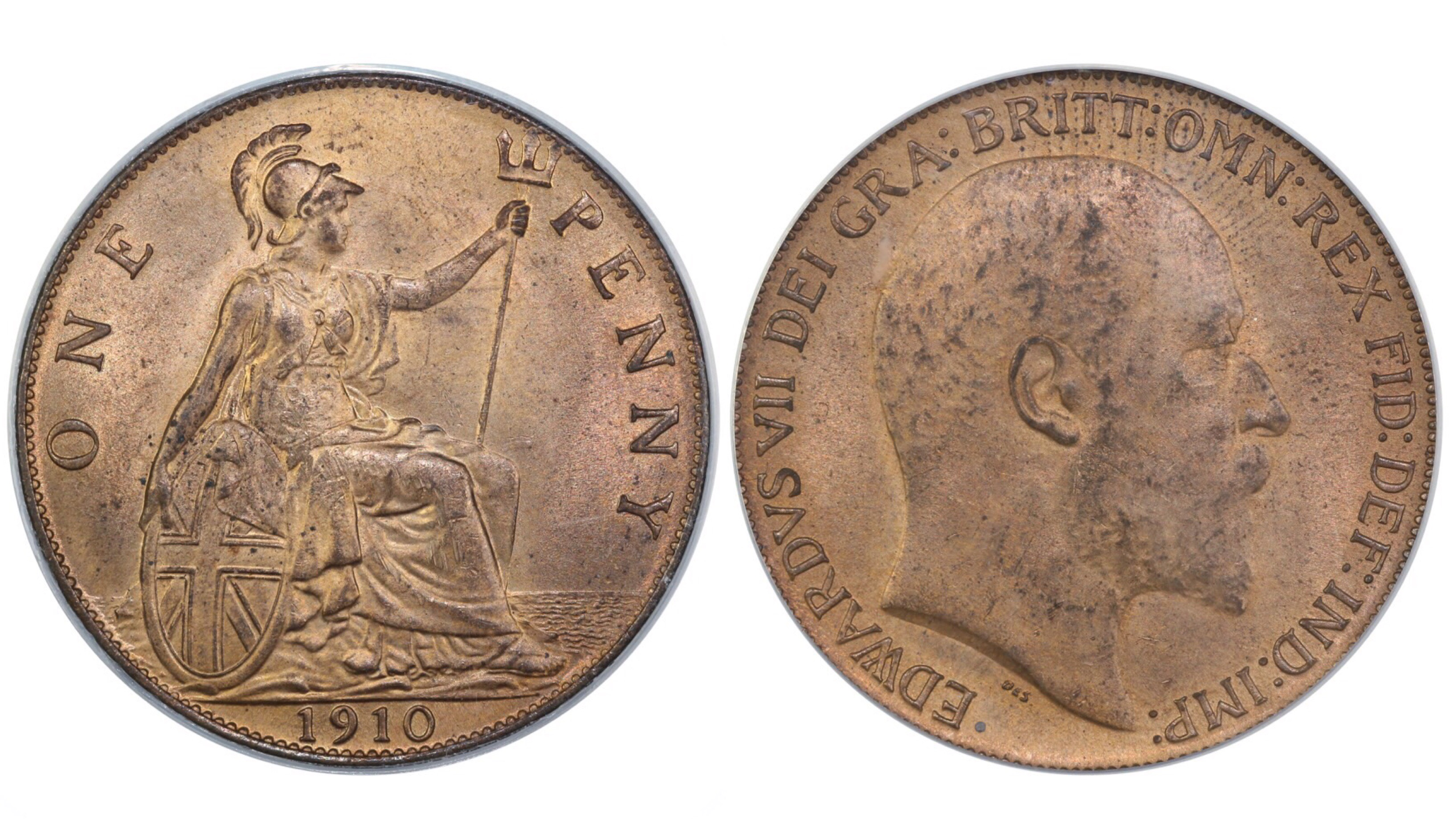 1910 Penny, CGS 75, Edward VII, Freeman 170, UIN 11885, sold at FB auction
