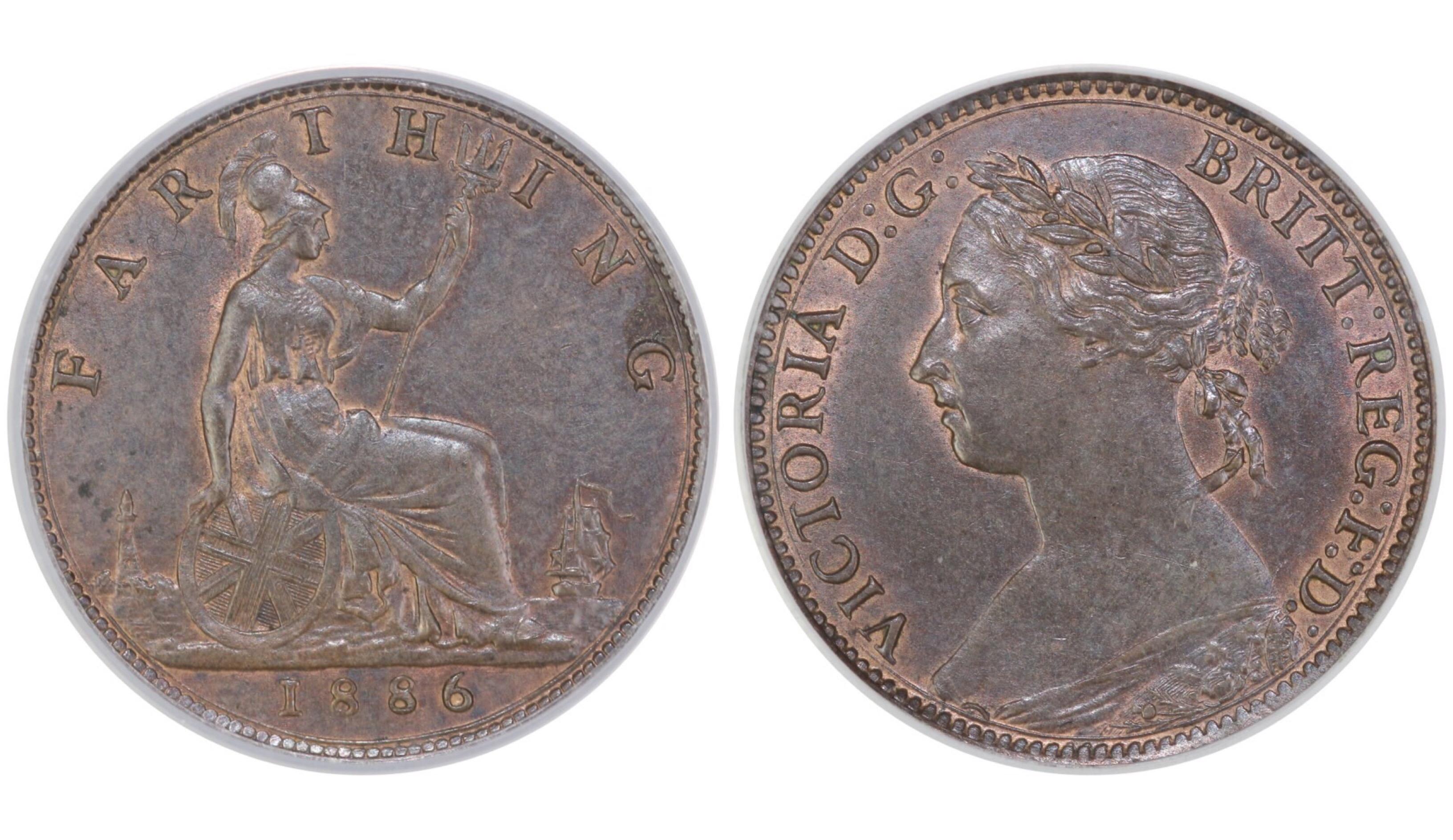 1886 Farthing, CGS 78, Victoria, Freeman 557, UIN 22671