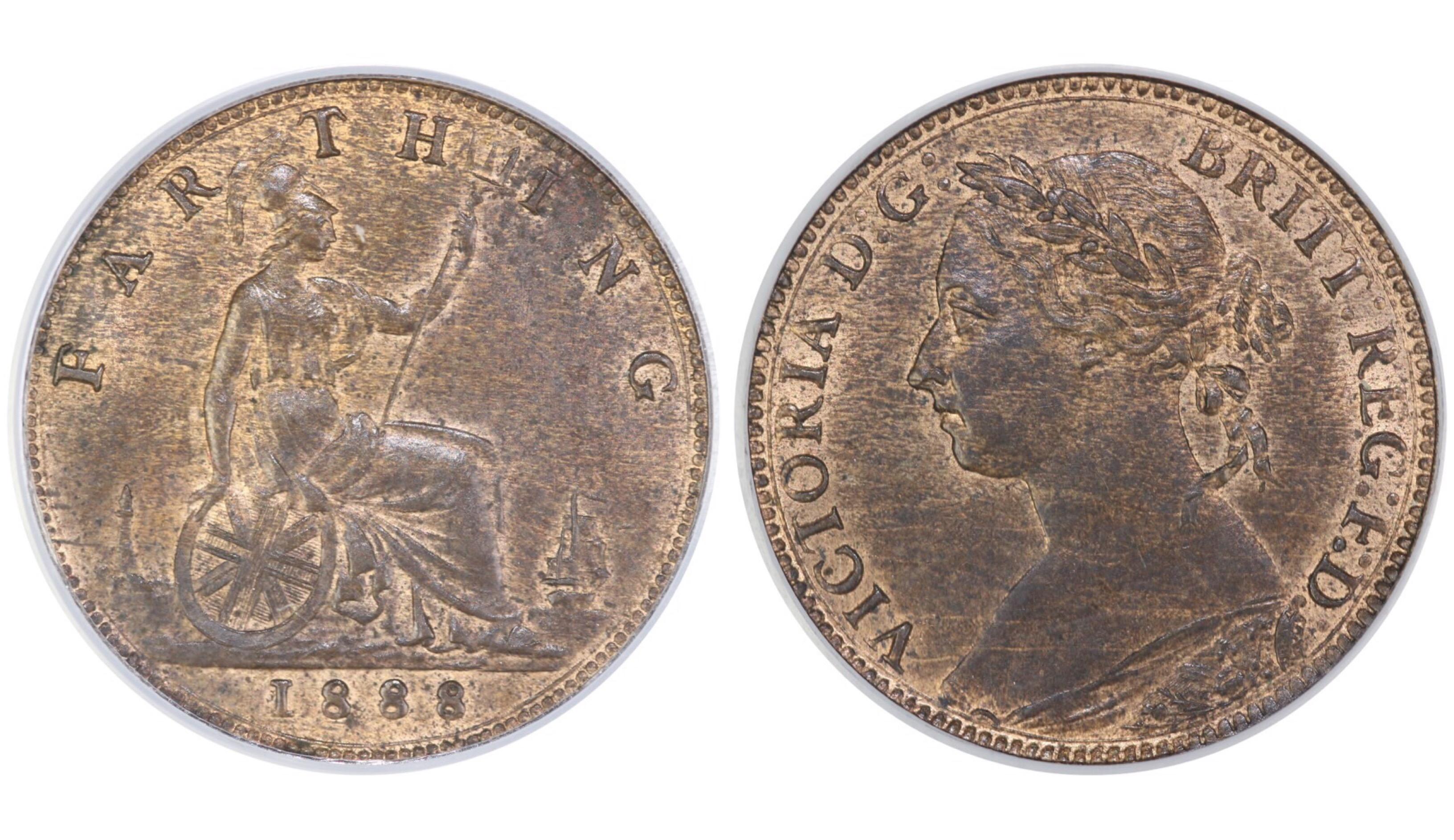 1888 Farthing, CGS 78, Victoria, Freeman 560, UIN 23890