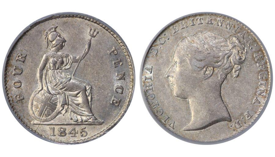 1845 Groat, CGS 50, Victoria, ESC 1940, UIN 30045
