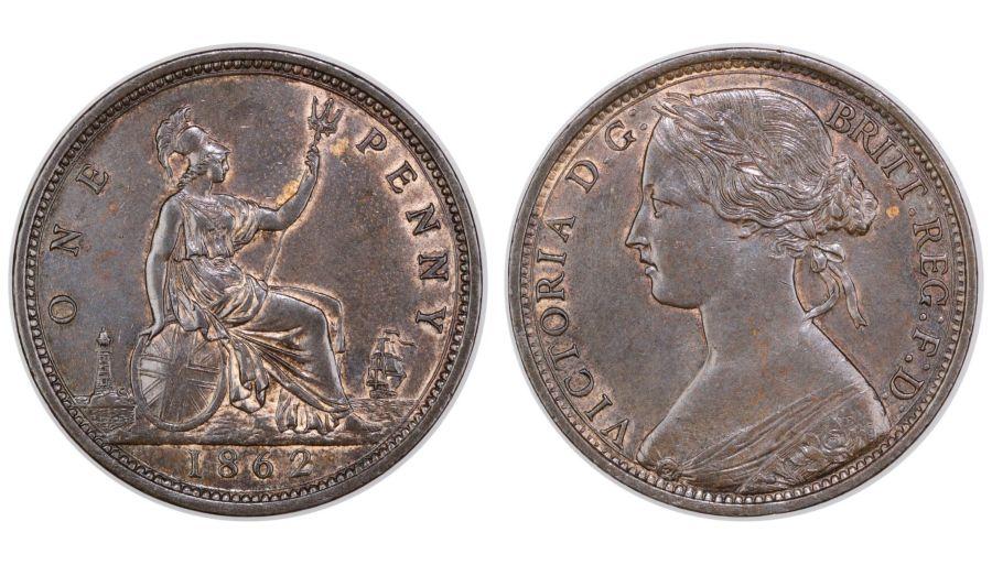 1862 Penny,  EF, Victoria, Freeman 39, Dies 6+G