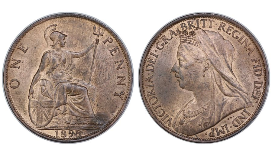 1898 Penny, aUNC, Gouby 1898AA, 10 1/2 teeth date spacing