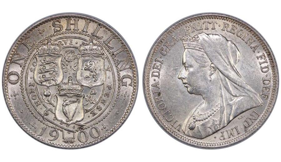 1900 Shilling, EF, Davies 1024, ESC 1369