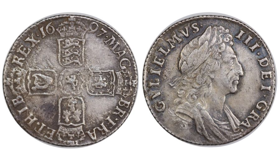 1697 Shilling, VF, Third bust, William III, Spink 3505, ESC 1102