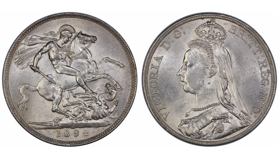 1892 Crown, gEF, Victoria, ESC 302
