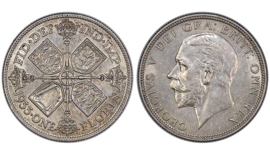 1933 Florin, George V, ESC 953, Spink 4038