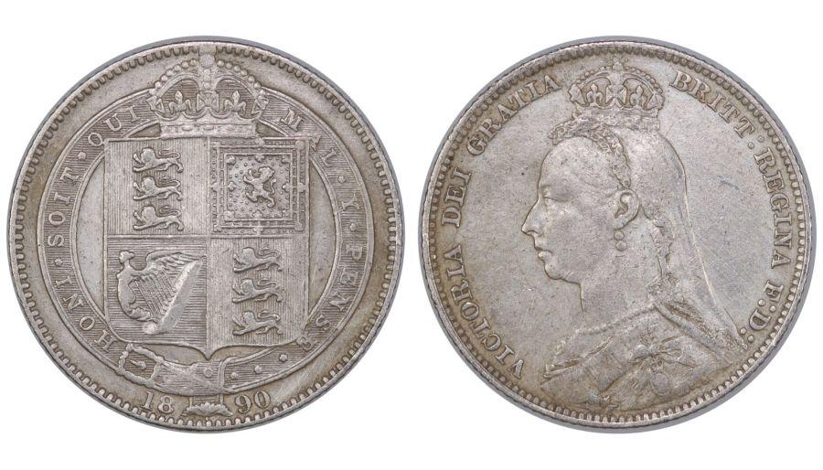 1890 Shilling, VF/gVF cleaned, Victoria, ESC 1357