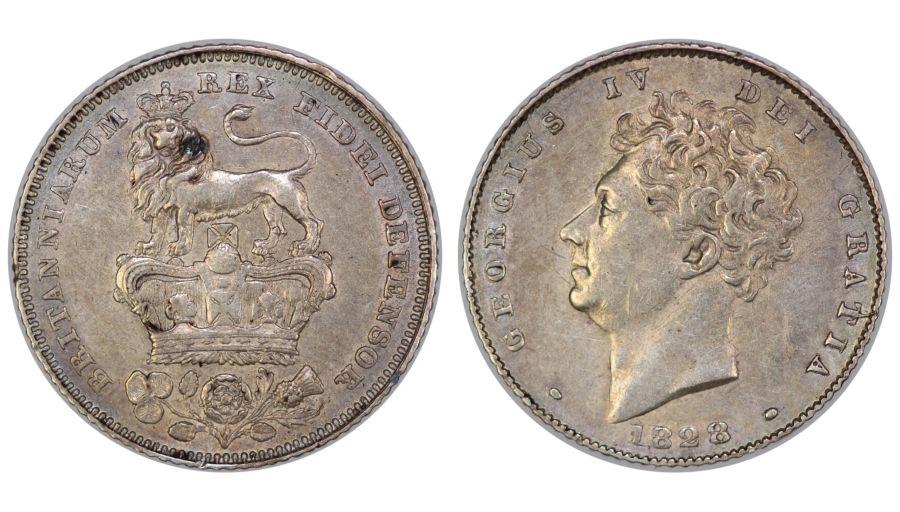 1828 Sixpence, George IV, gVF, ESC 1665, Scarce
