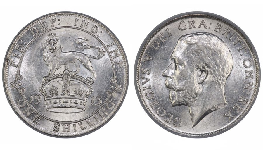 1915 Shilling, LCGS 75, George V, ESC 1425, UIN 42080