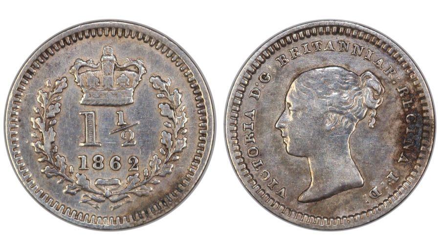 1862 Threehalfpence, gVF, Victoria, Low 2 variety, ESC 2261
