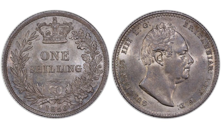 1836 Shilling, gEF, William IV, Bull 2494, ESC 1273