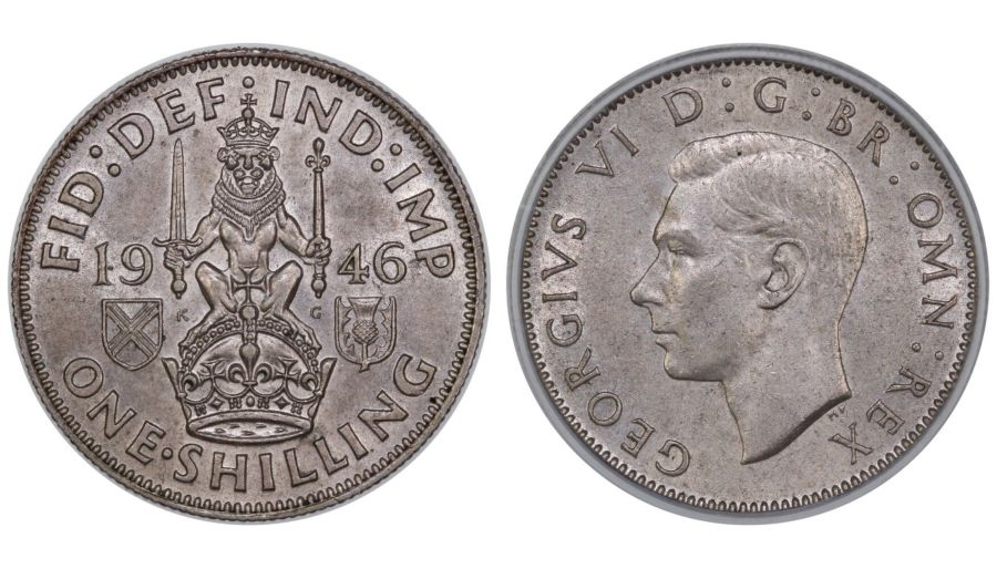 1946 'Scottish' Shilling, CGS 75, UNC or near so,  George VI, UIN 29061