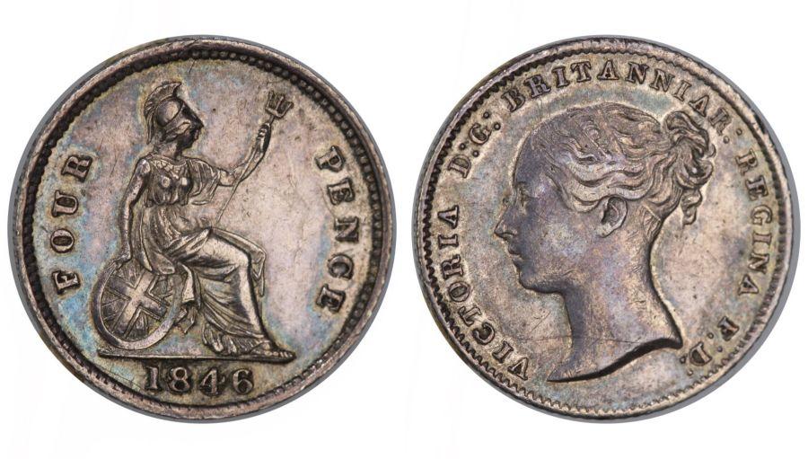 1846 Groat, gVF, Victoria, Bull 3338, ESC 1941